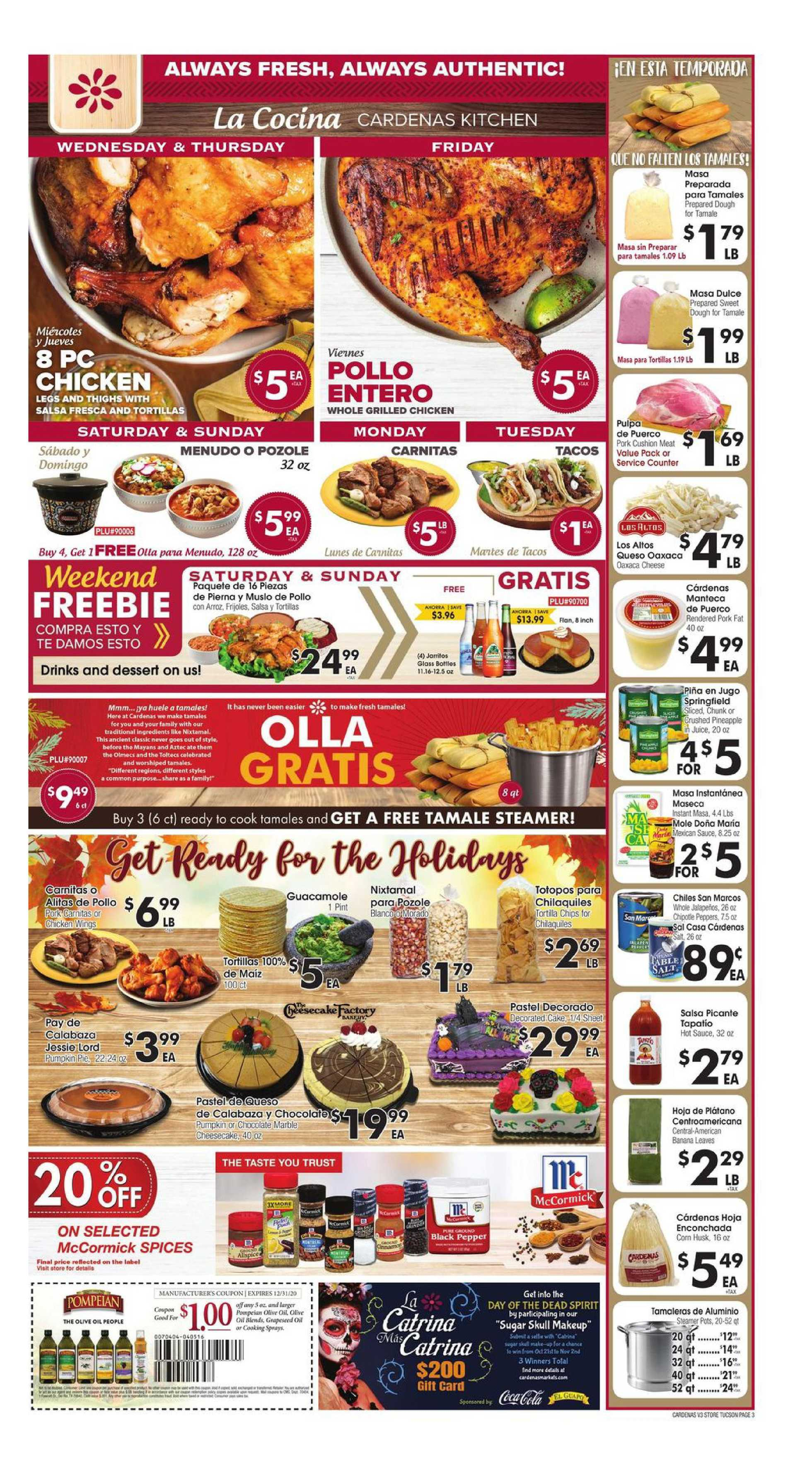 Cardenas - deals are valid from 10/28/20 to 11/03/20 - page 3.