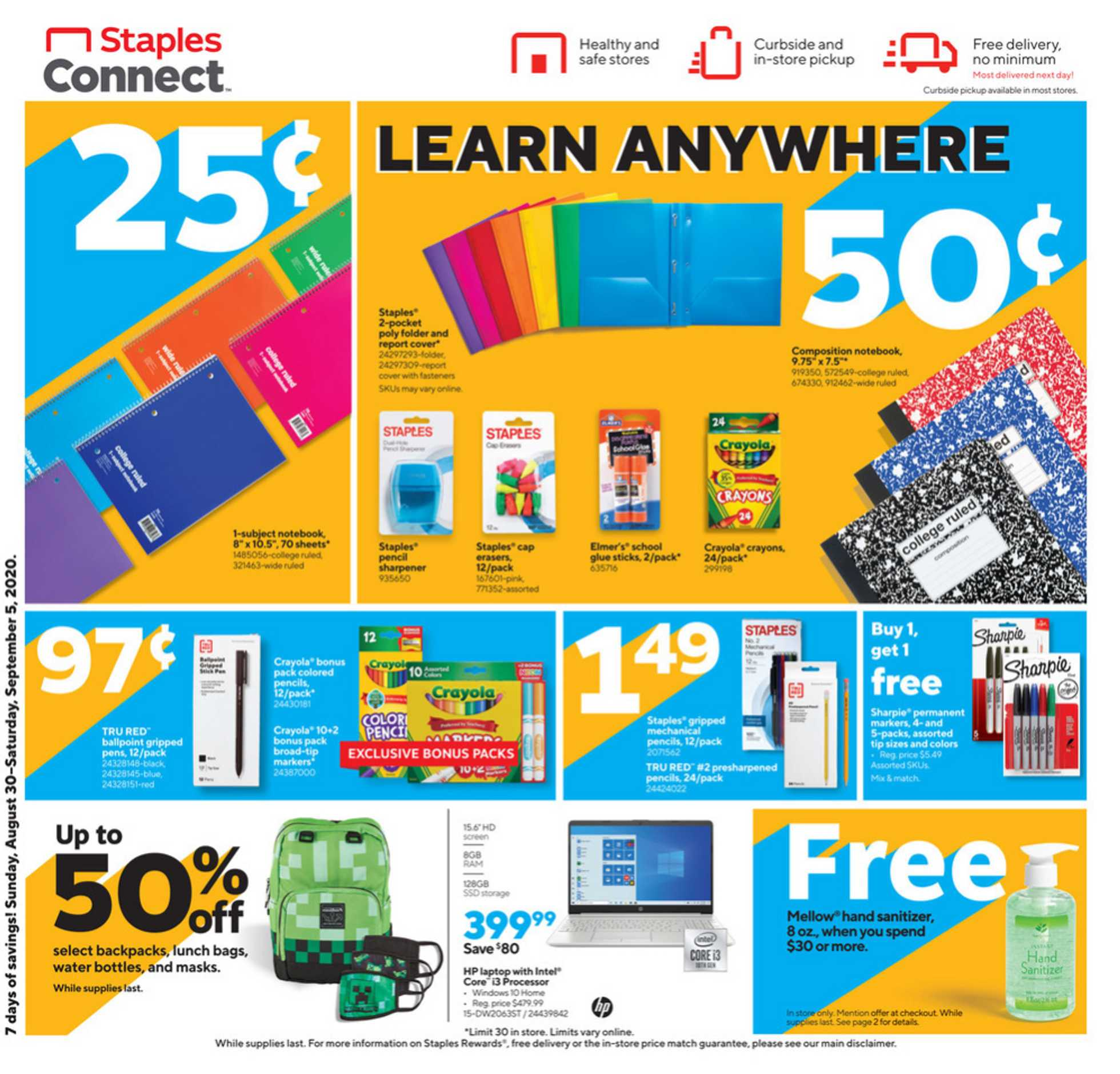 Staples - deals are valid from 08/30/20 to 09/05/20 - page 2.