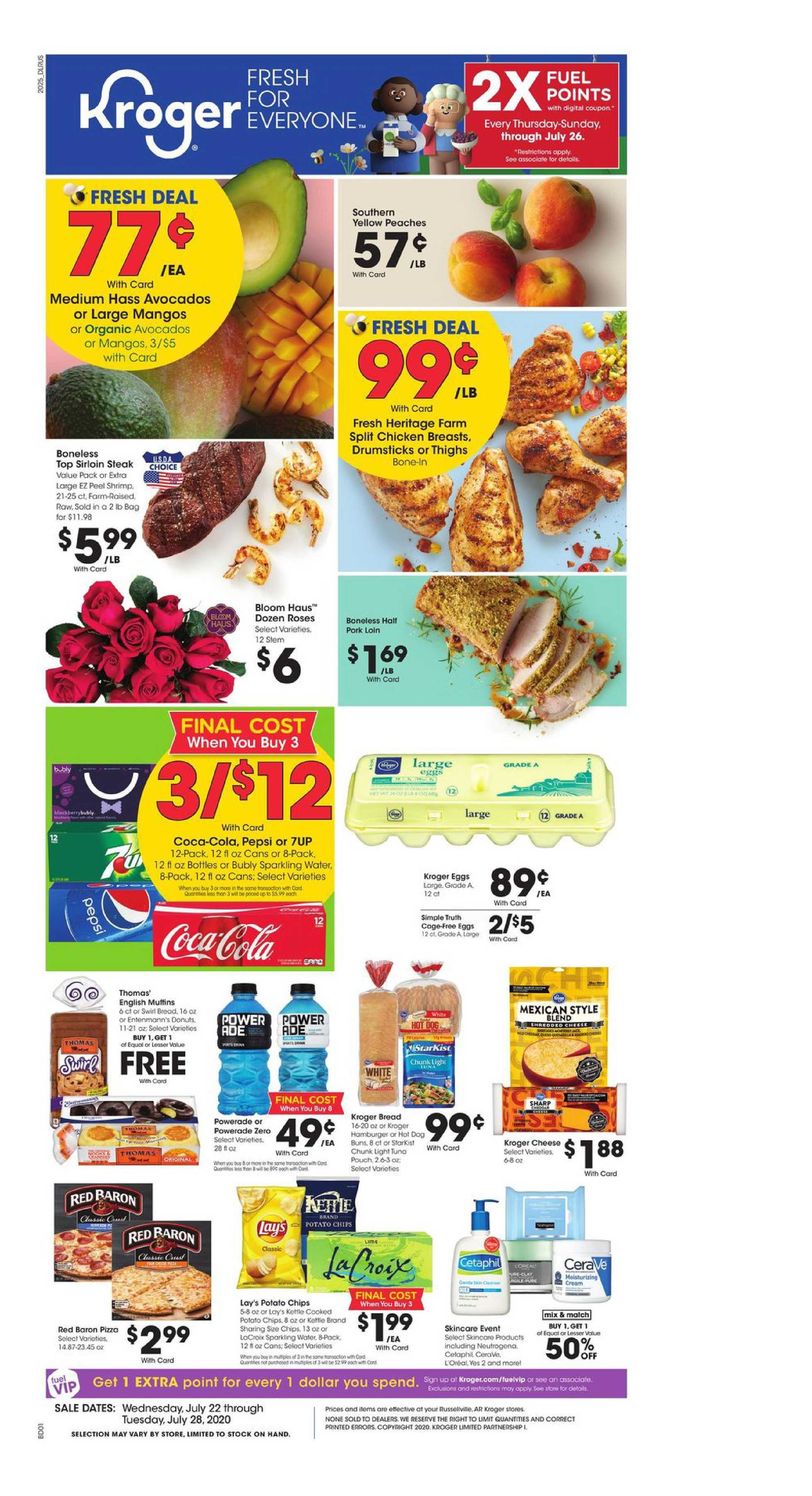 Kroger - deals are valid from 07/22/20 to 07/28/20 - page 1.