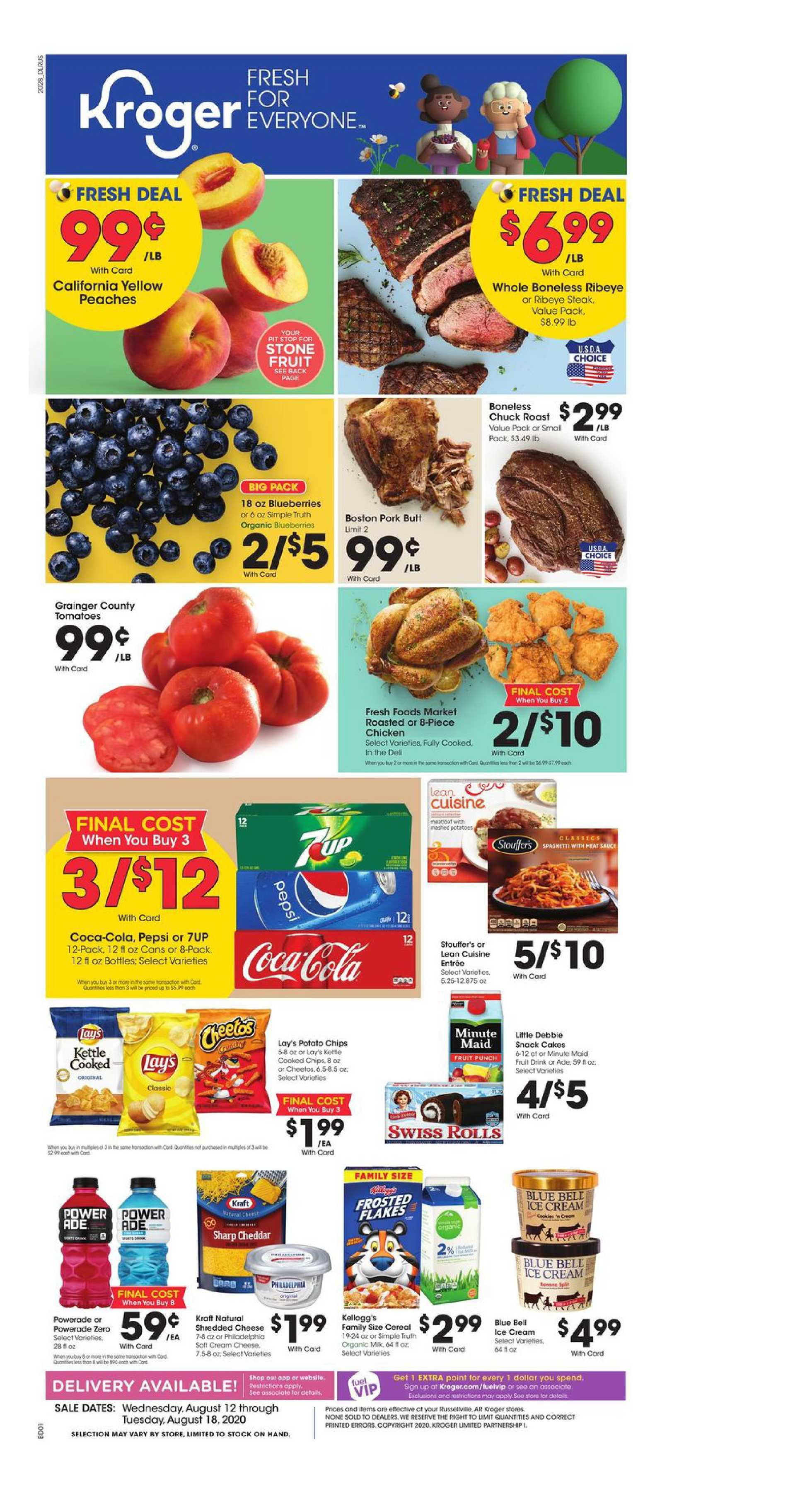 Kroger - deals are valid from 08/12/20 to 08/18/20 - page 1.