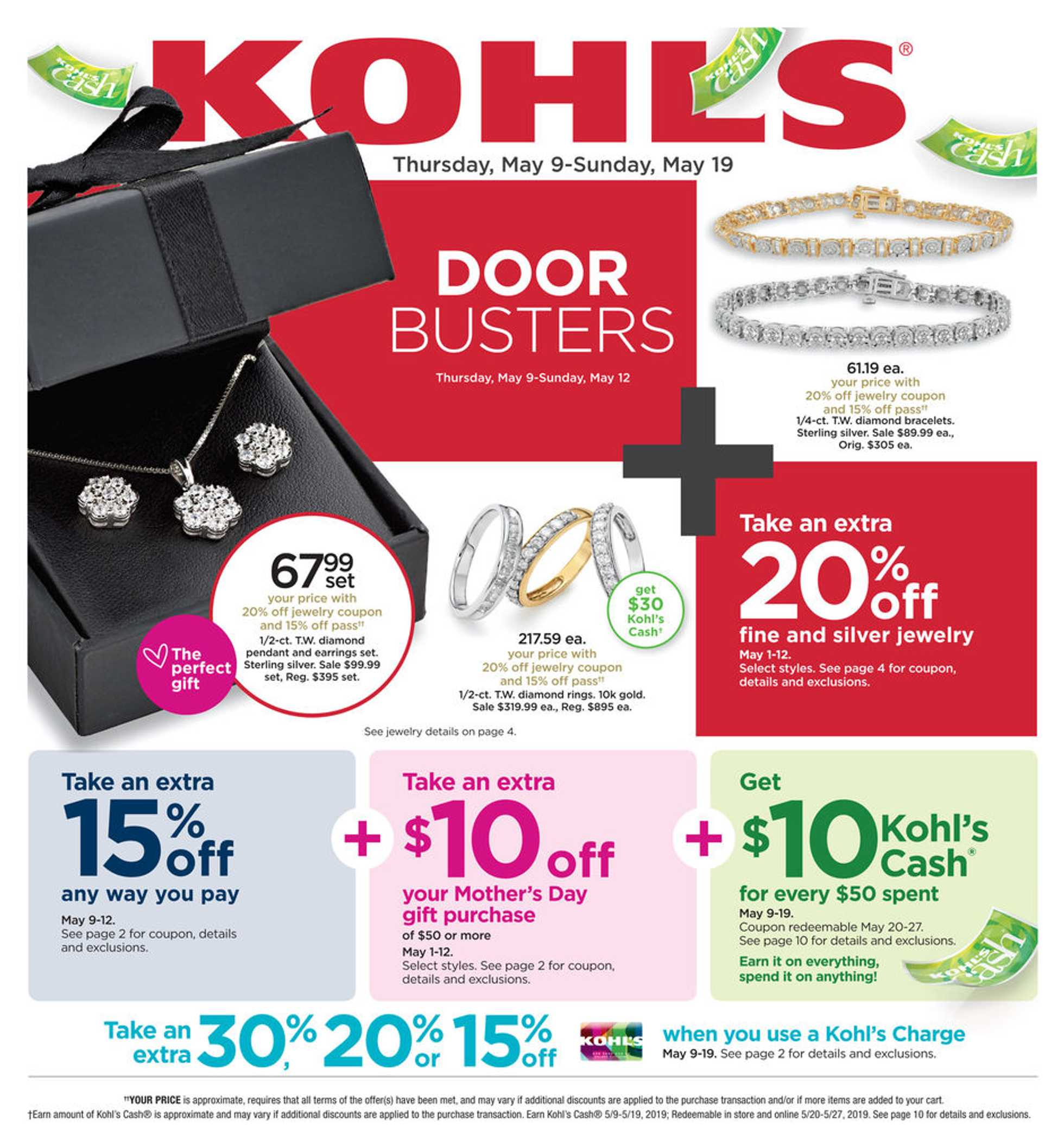 Kohl's - deals are valid from 05/09/19 to 05/19/19 - page 1.