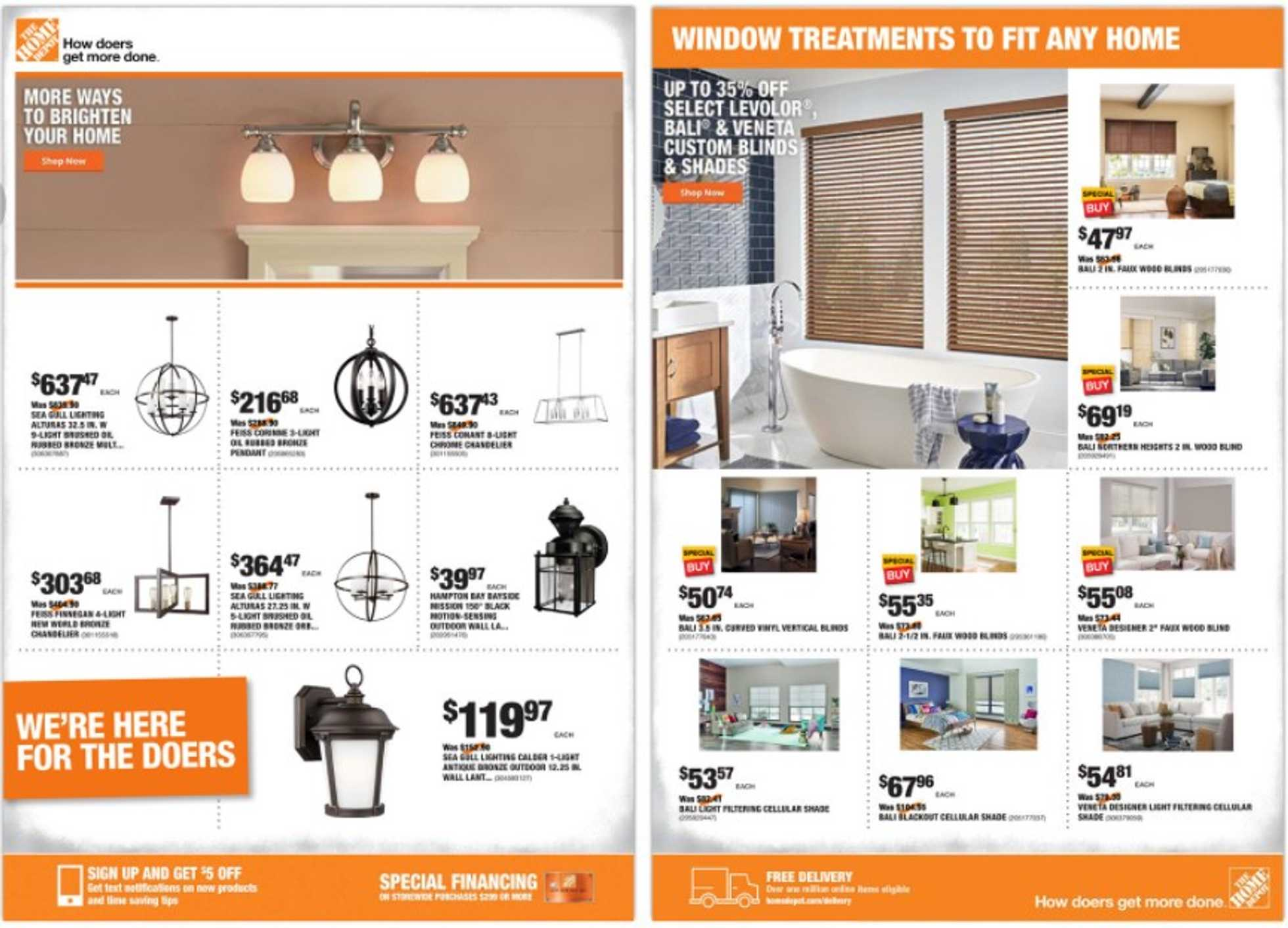 The Home Depot - deals are valid from 09/24/20 to 10/01/20 - page 1.