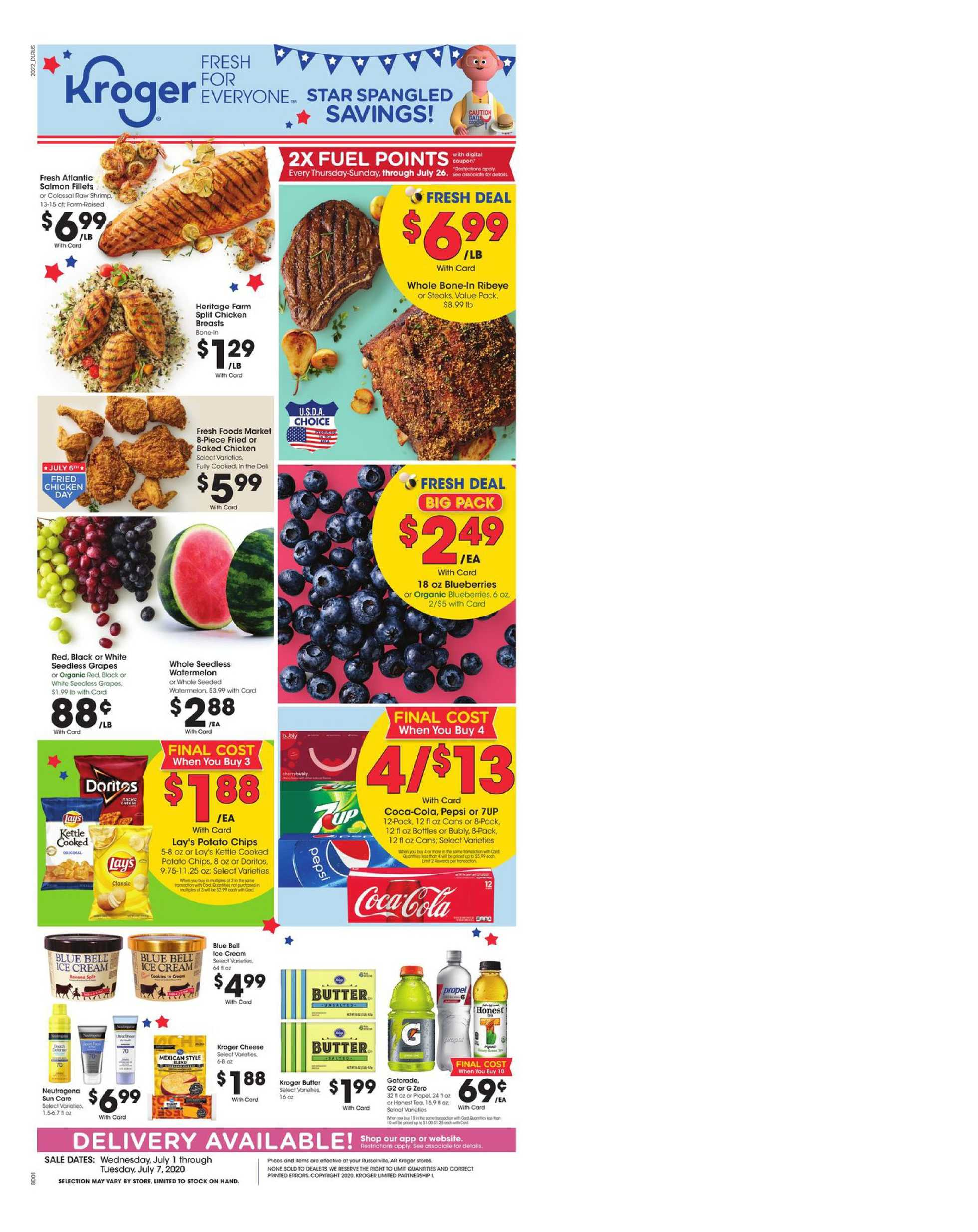 Kroger - deals are valid from 07/01/20 to 07/07/20 - page 1.
