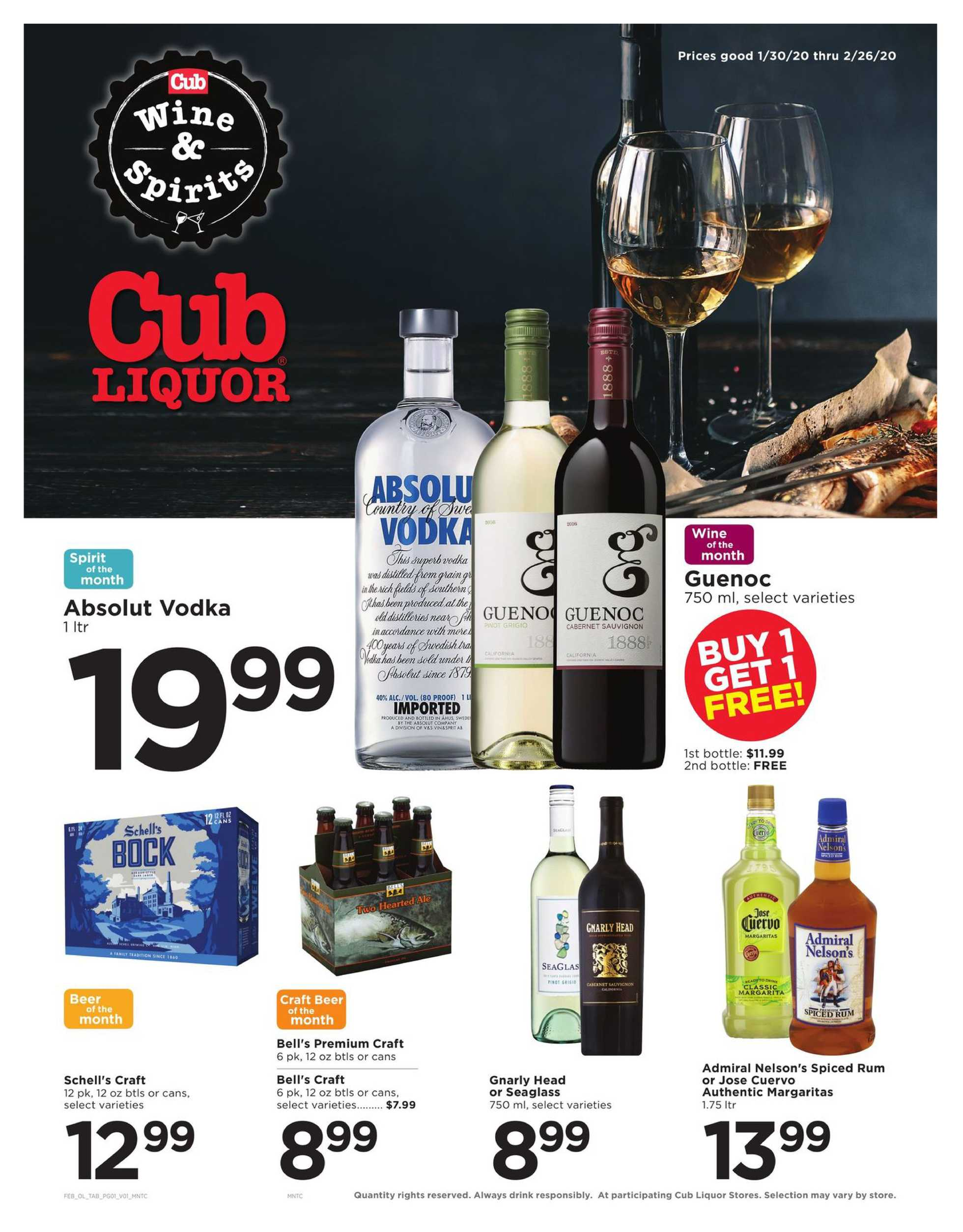 Cub - promo starting from 01/30/20 to 02/26/20 - page 1.
