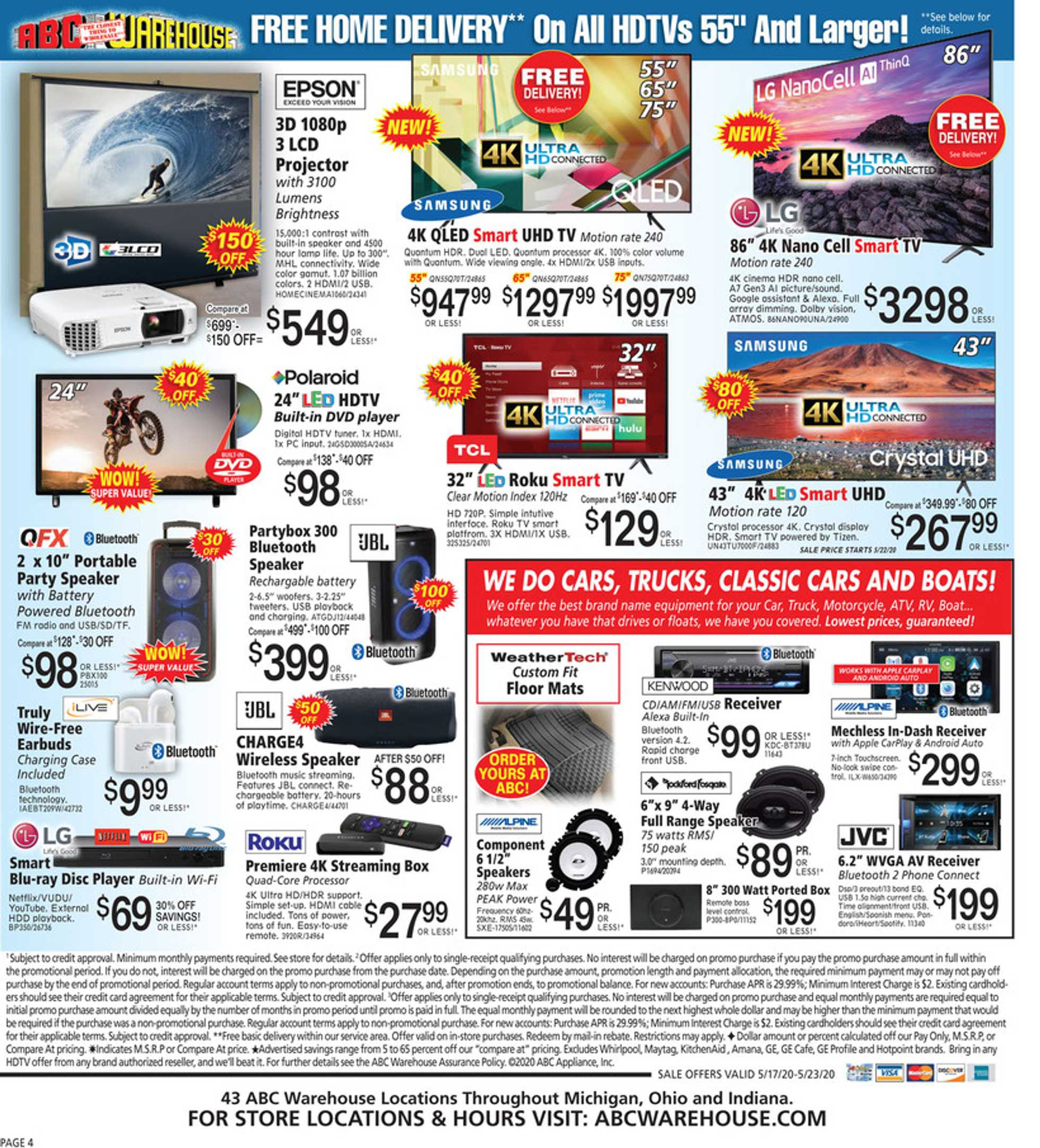 ABC Warehouse - deals are valid from 05/17/20 to 05/23/20 - page 4.