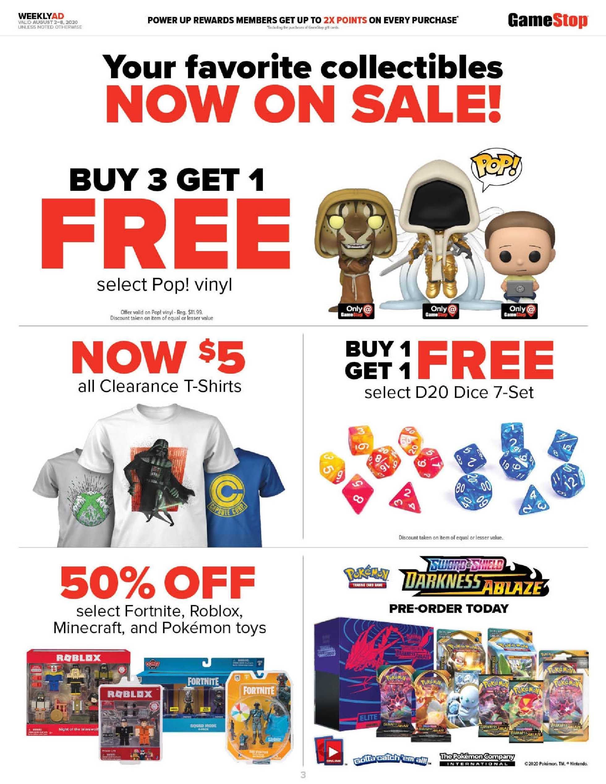 GameStop - deals are valid from 08/02/20 to 08/08/20 - page 3.