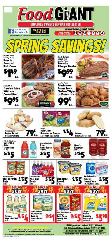 Food Giant - deals are valid from 04/28/21 to 05/04/21 - page 1.