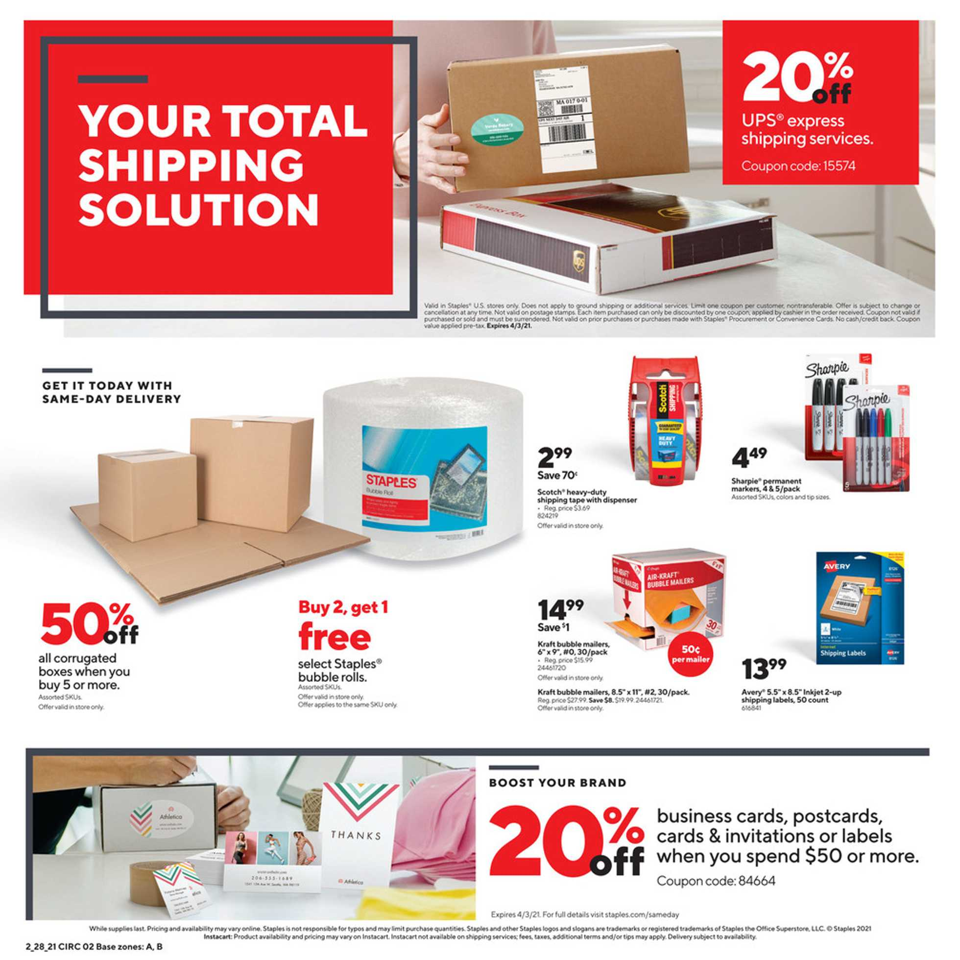 Staples - deals are valid from 02/28/21 to 03/06/21 - page 2.