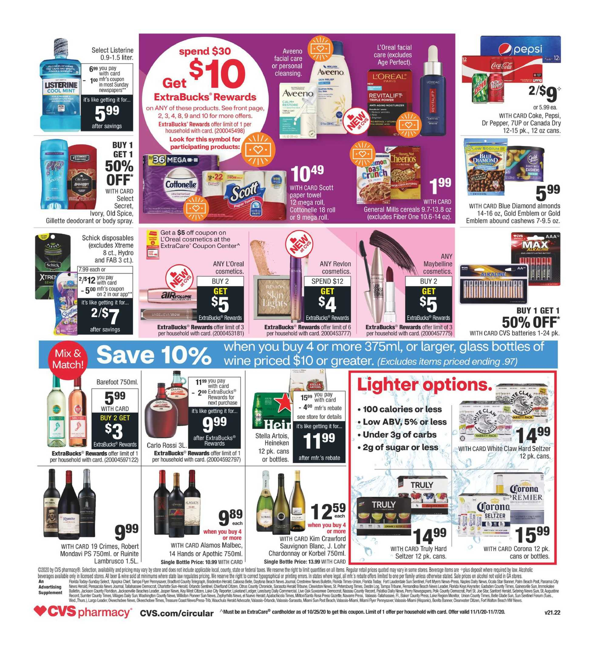 CVS - deals are valid from 11/01/20 to 11/07/20 - page 2.