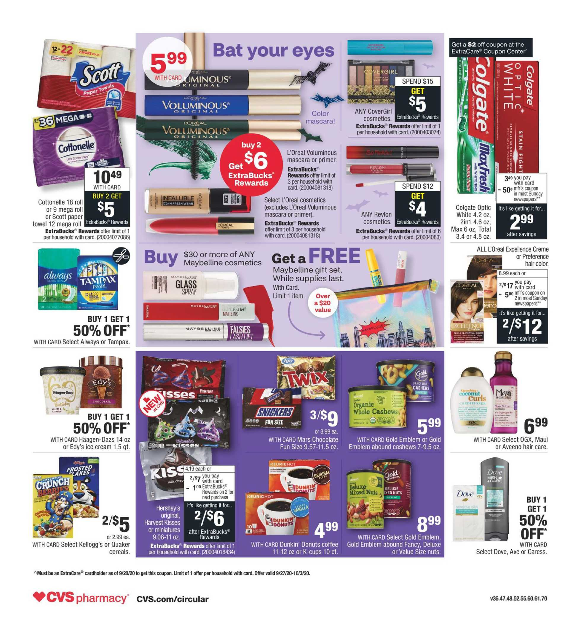 CVS - deals are valid from 09/27/20 to 10/03/20 - page 2.