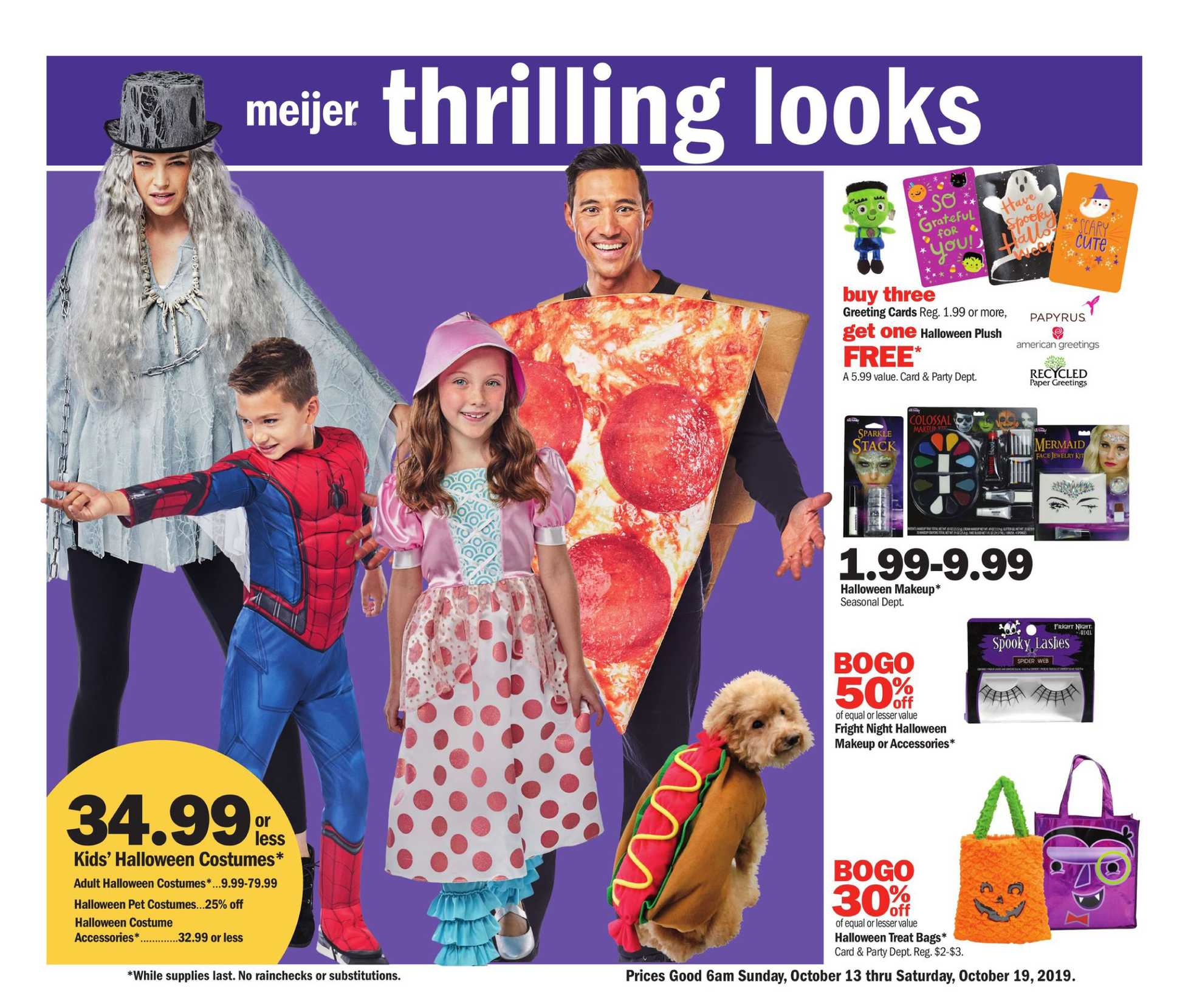 Meijer - deals are valid from 10/13/19 to 10/19/19 - page 1.