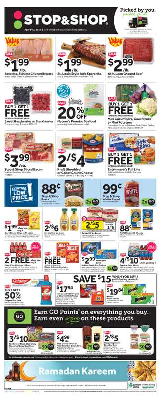 Stop & Shop - deals are valid from 04/09/21 to 04/15/21 - page 1.
