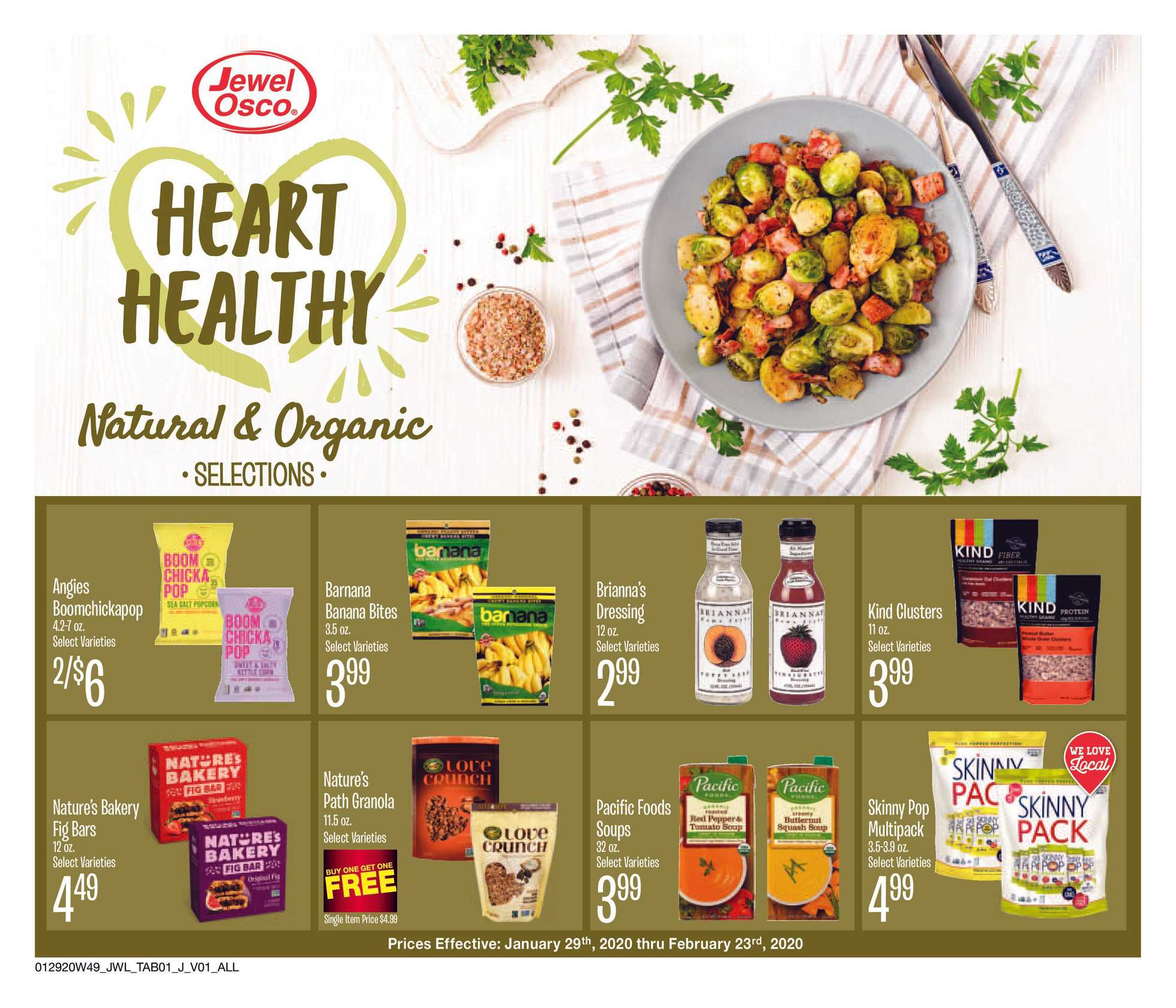 Jewel Osco - promo starting from 01/29/20 to 02/23/20 - page 1.