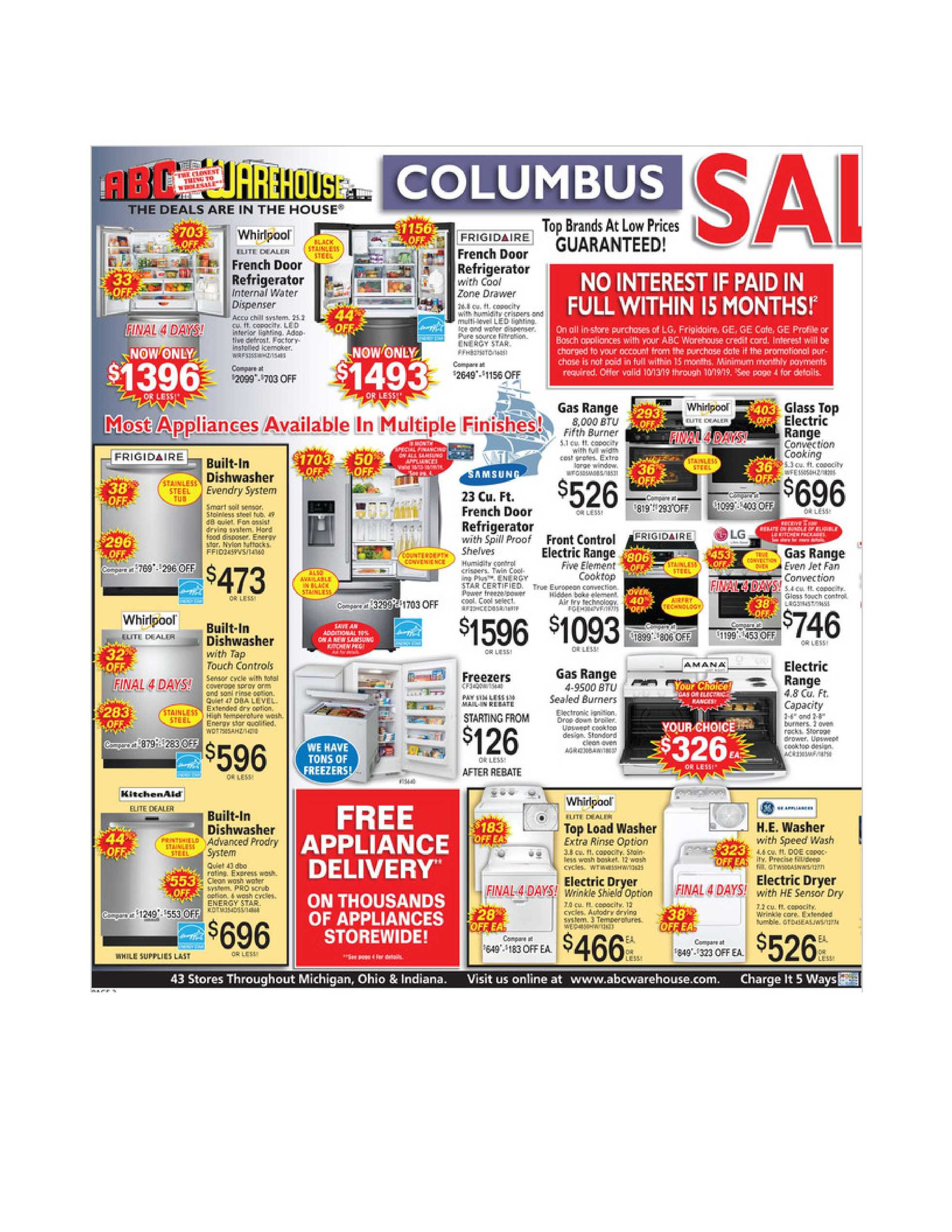 ABC Warehouse - deals are valid from 10/13/19 to 10/19/19 - page 2.