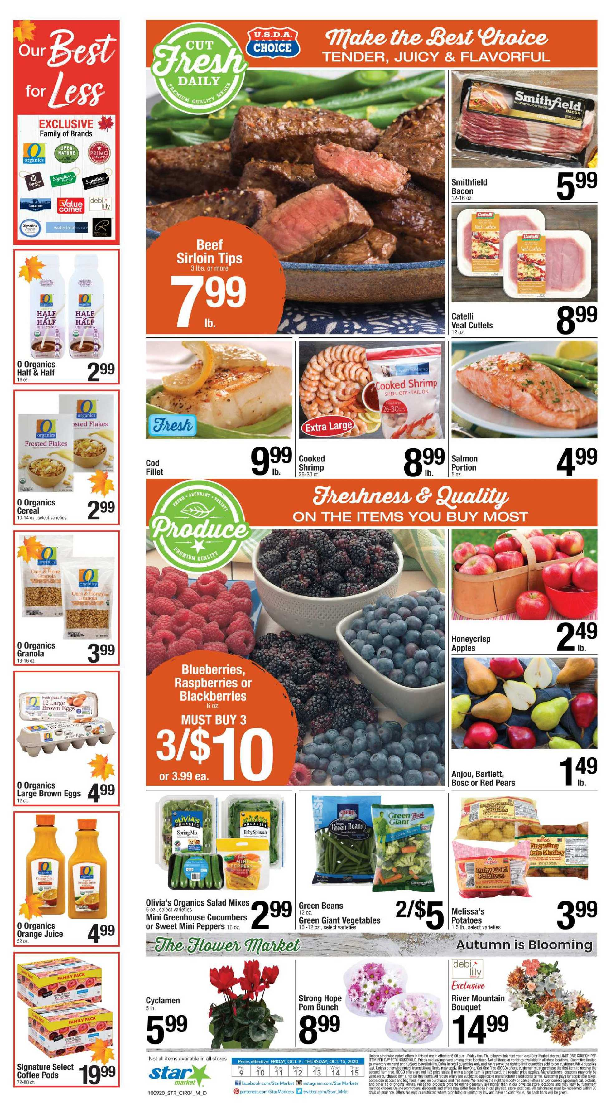 Star Market - deals are valid from 10/09/20 to 10/15/20 - page 3.