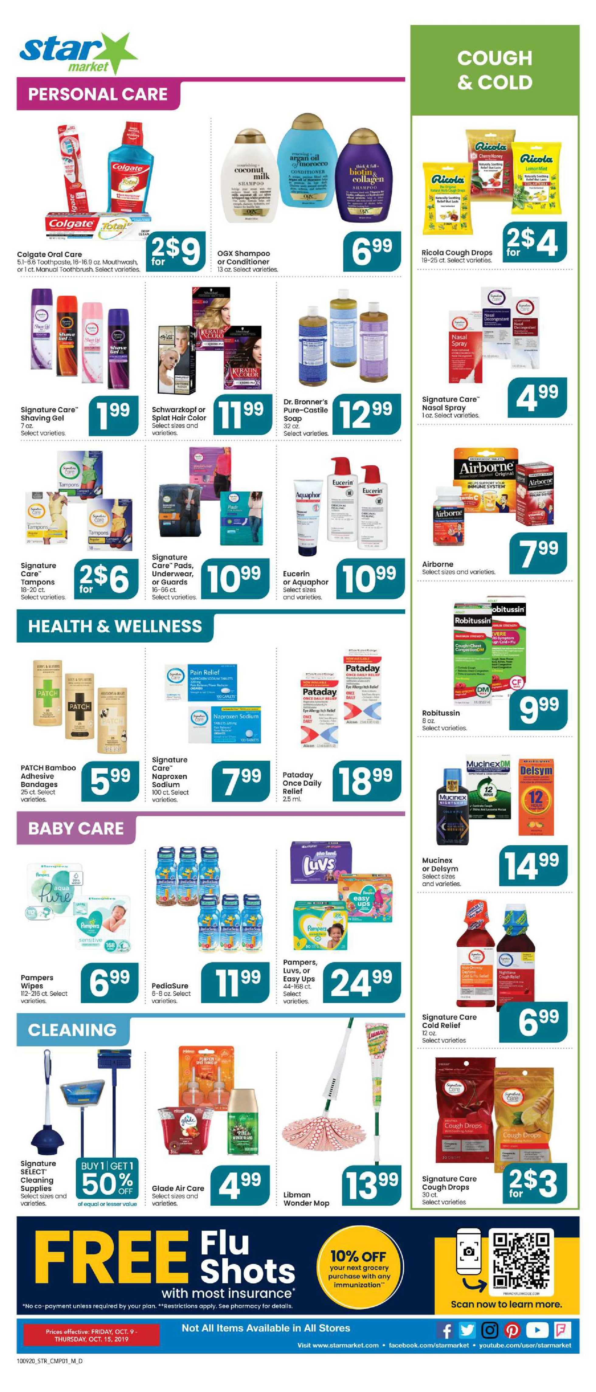 Star Market - deals are valid from 10/09/20 to 10/15/20 - page 4.