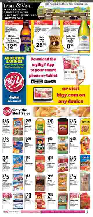 Big Y - deals are valid from 10/03/19 to 10/09/19 - page 7.