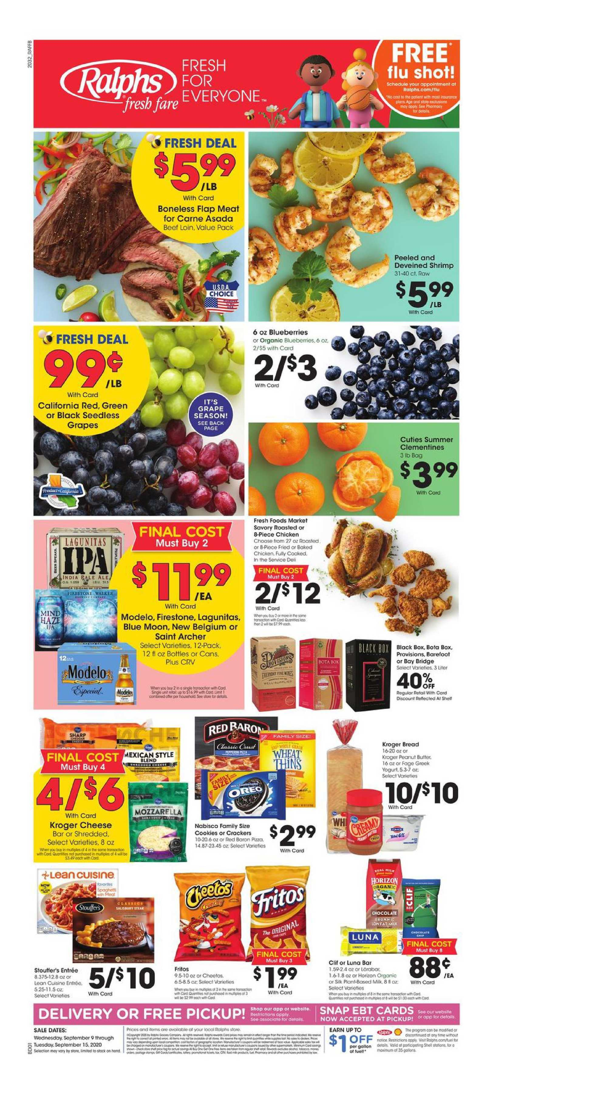 Ralphs - deals are valid from 09/09/20 to 09/15/20 - page 1.
