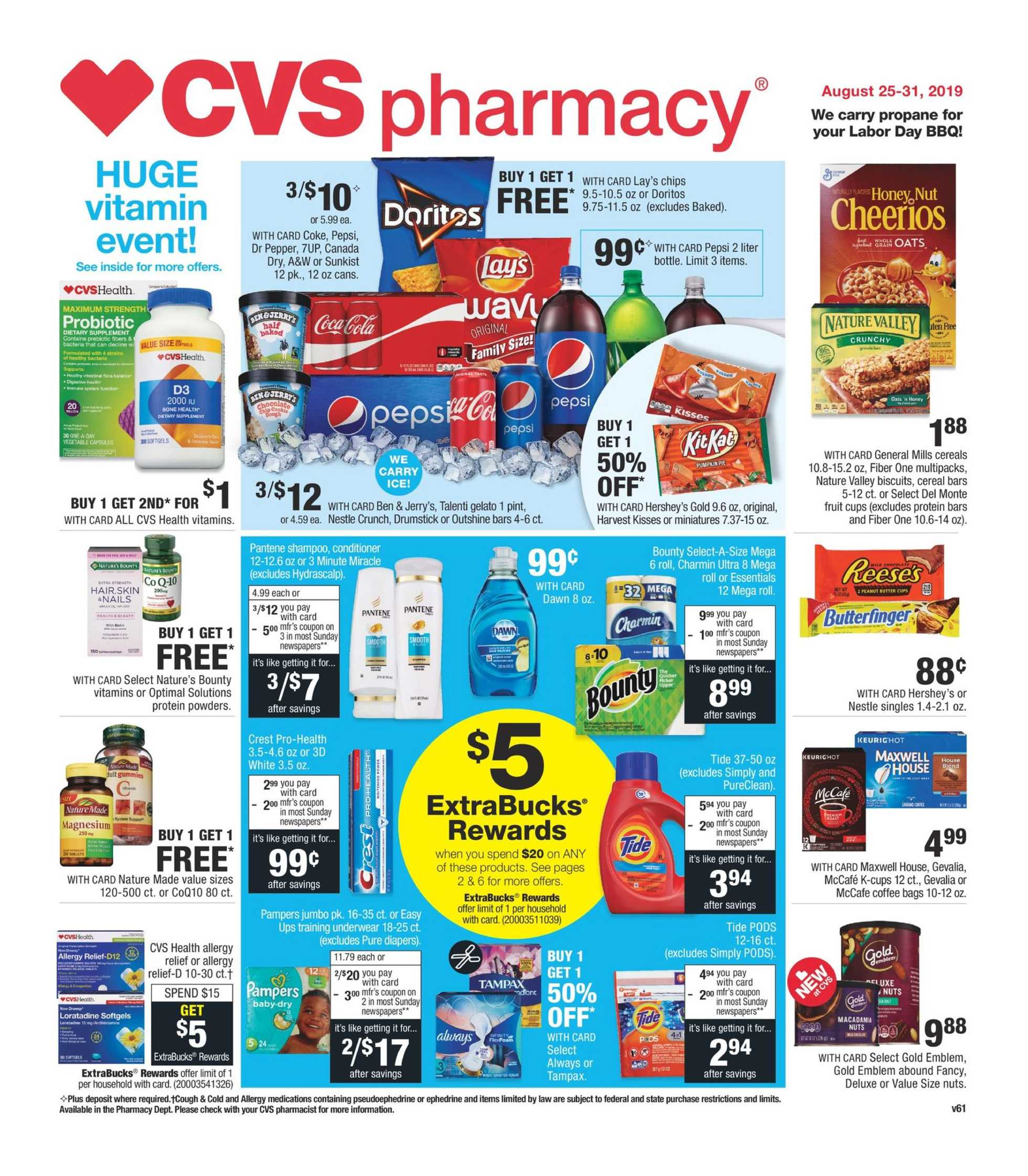 CVS - deals are valid from 08/28/19 to 08/31/19 - page 1.