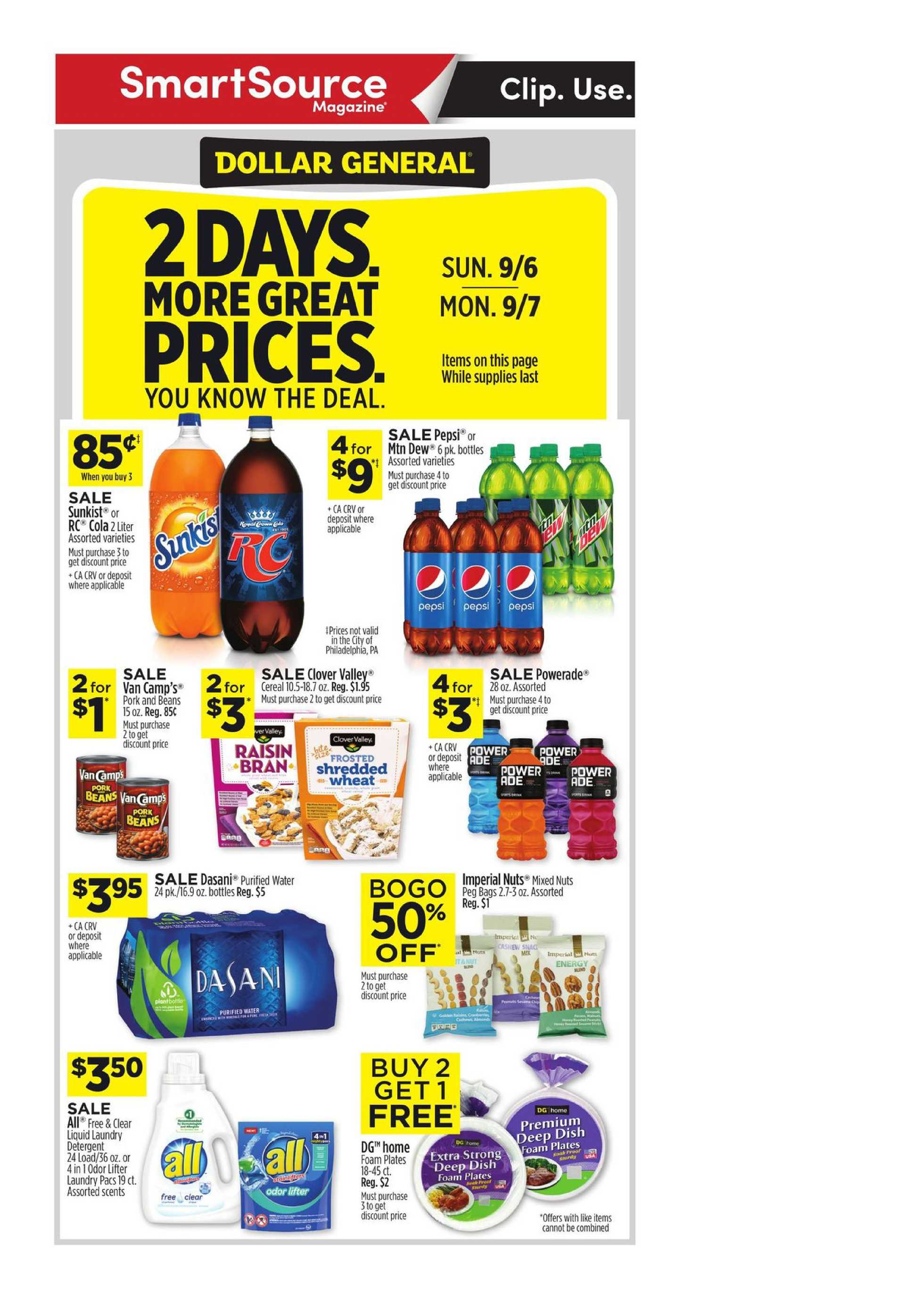Dollar General - deals are valid from 09/06/20 to 09/12/20 - page 1.