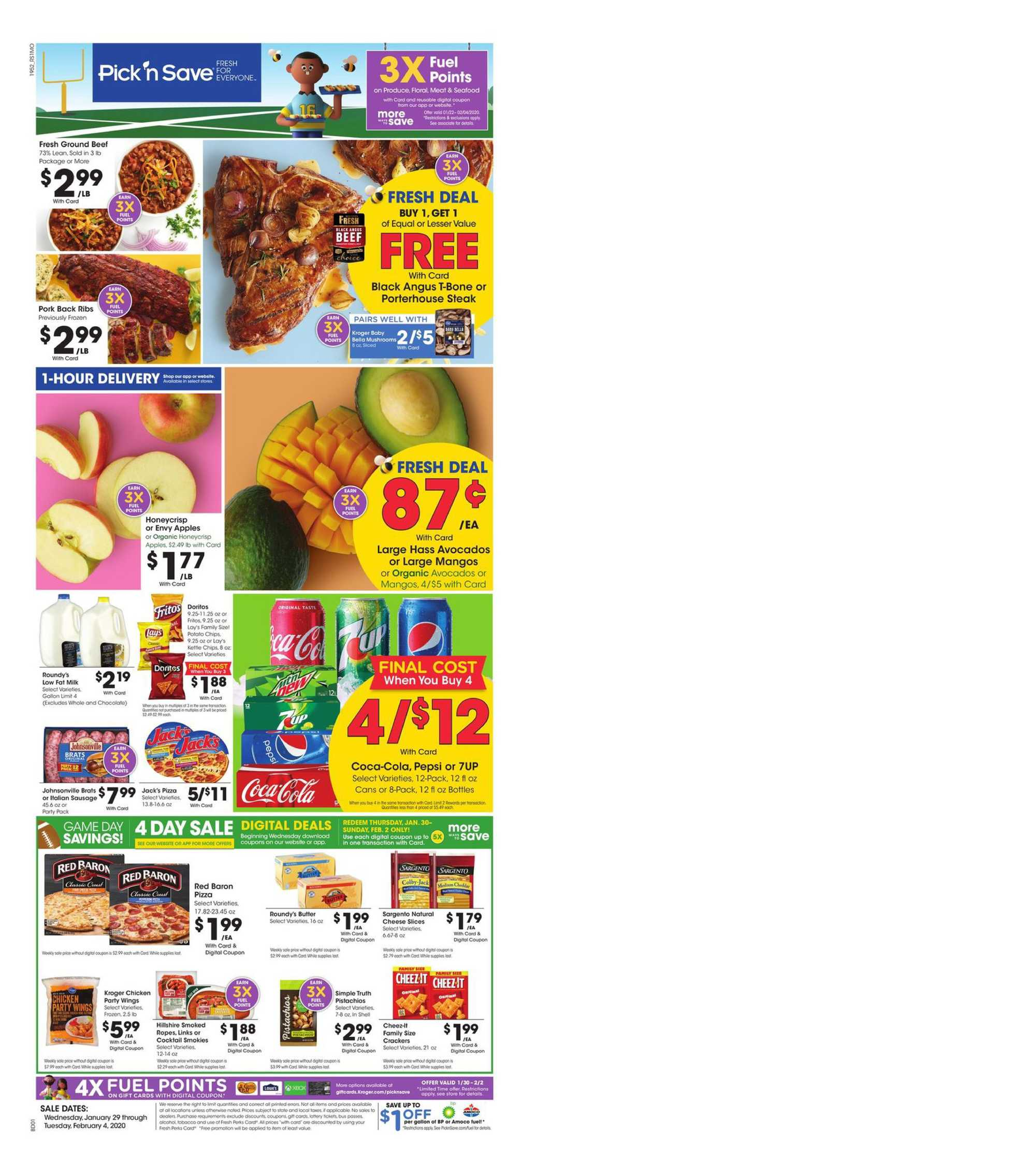 Pick n Save - deals are valid from 01/29/20 to 02/04/20 - page 1.