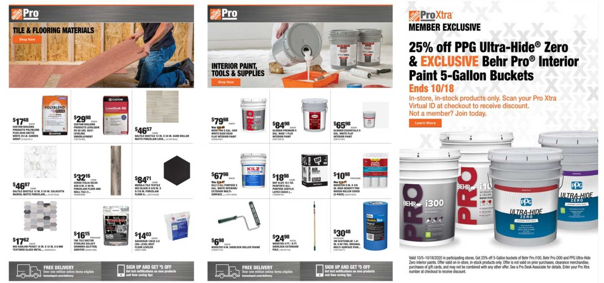 The Home Depot - deals are valid from 10/05/20 to 10/12/20 - page 1.