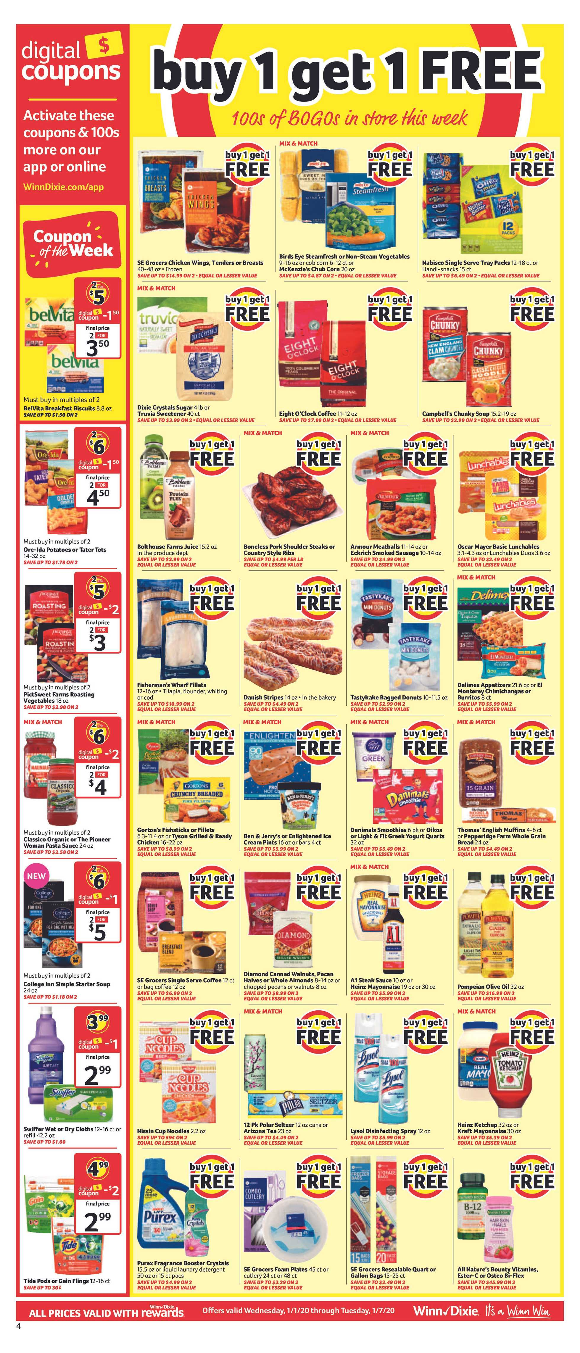 Winn Dixie - deals are valid from 01/01/20 to 01/07/20 - page 4.
