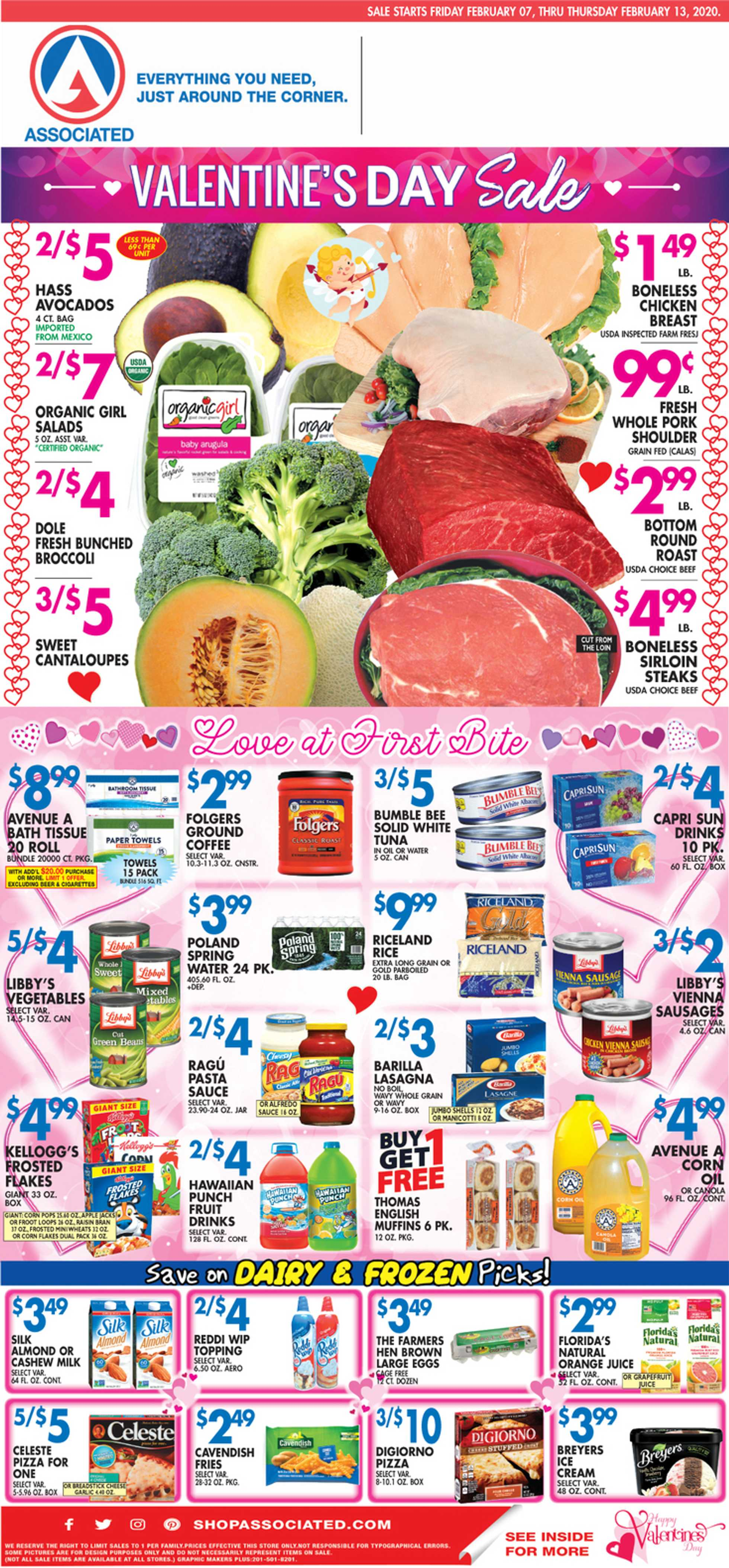 Associated Supermarkets - deals are valid from 02/07/20 to 02/13/20 - page 1.
