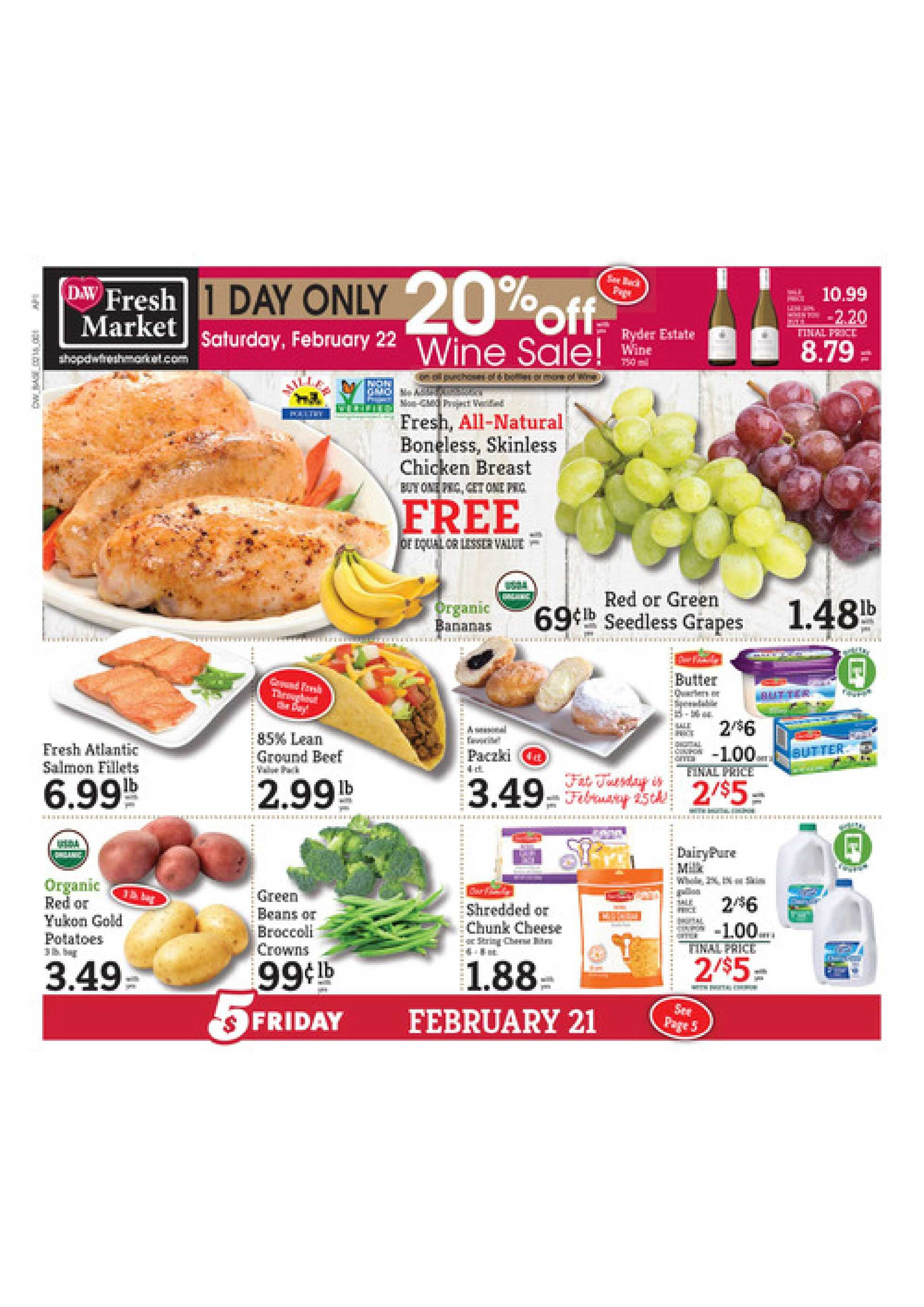 D&W Fresh Market - promo starting from 02/16/20 to 02/22/20 - page 1.