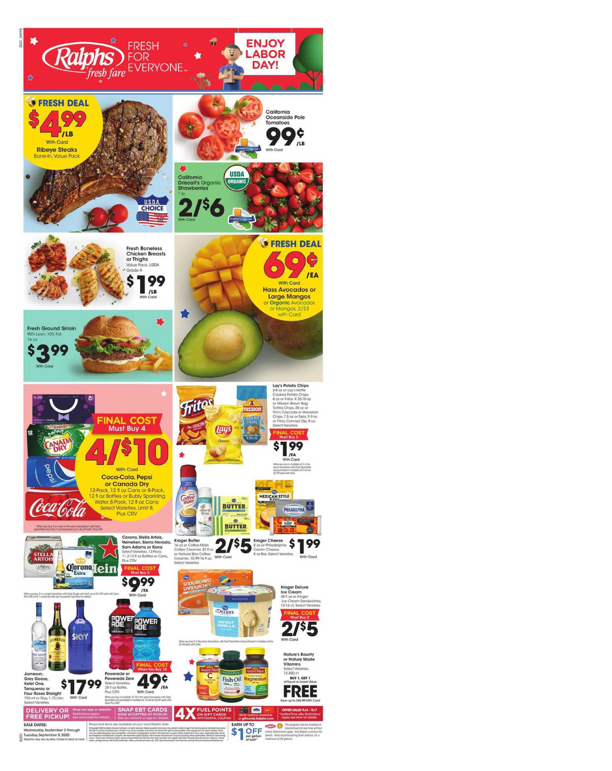 Ralphs - deals are valid from 09/02/20 to 09/08/20 - page 1.