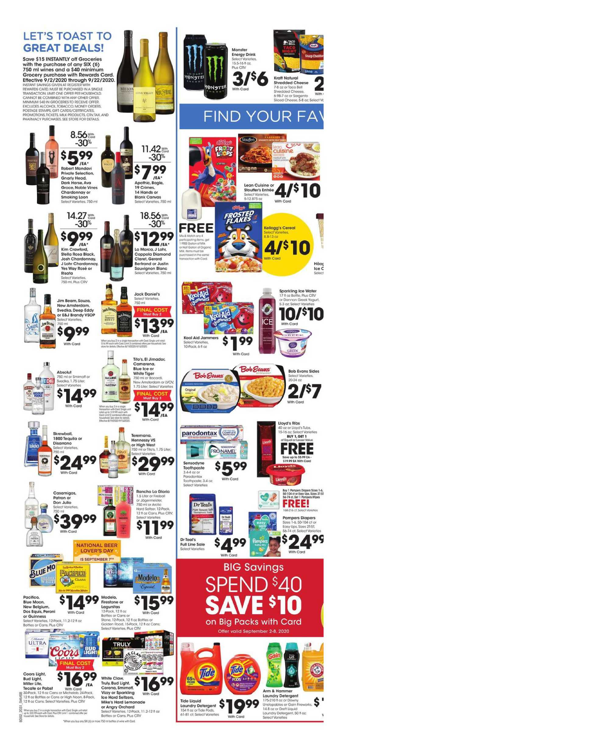 Ralphs - deals are valid from 09/02/20 to 09/08/20 - page 4.