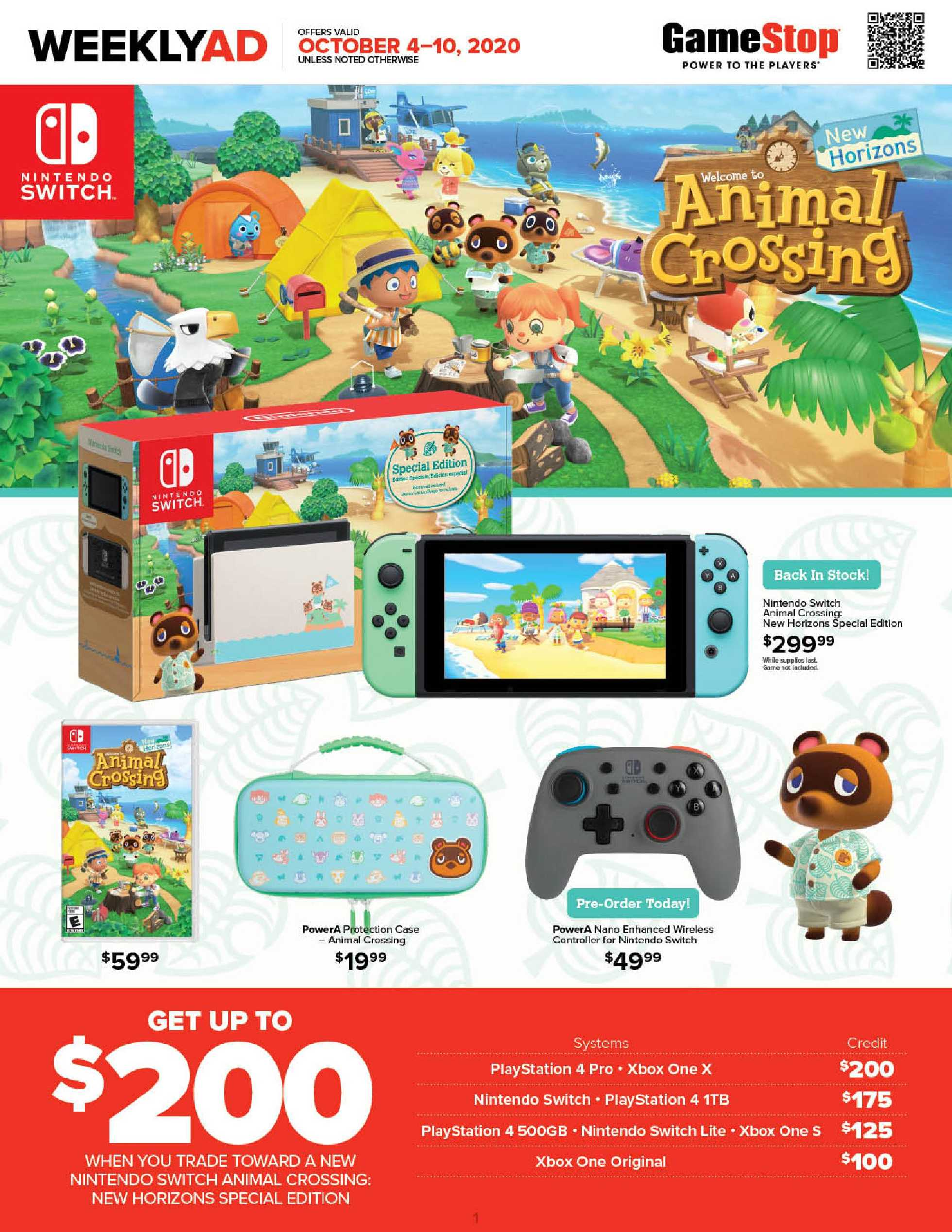 GameStop - deals are valid from 10/04/20 to 10/10/20 - page 1.