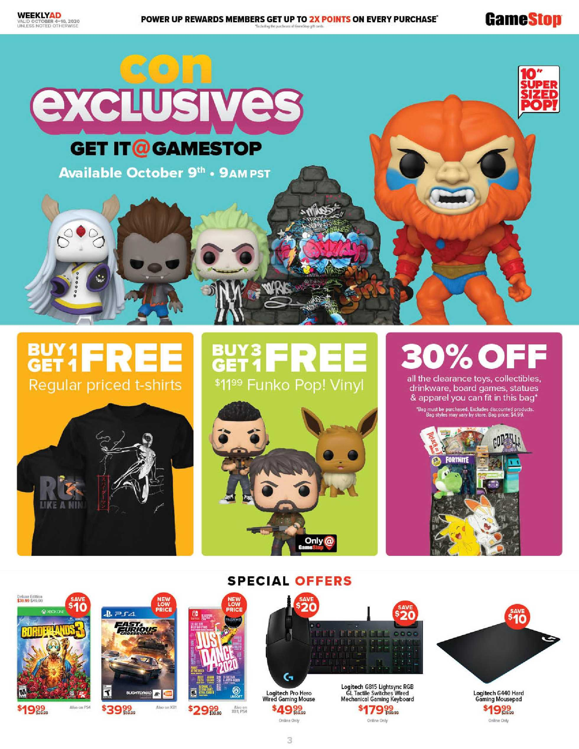 GameStop - deals are valid from 10/04/20 to 10/10/20 - page 3.