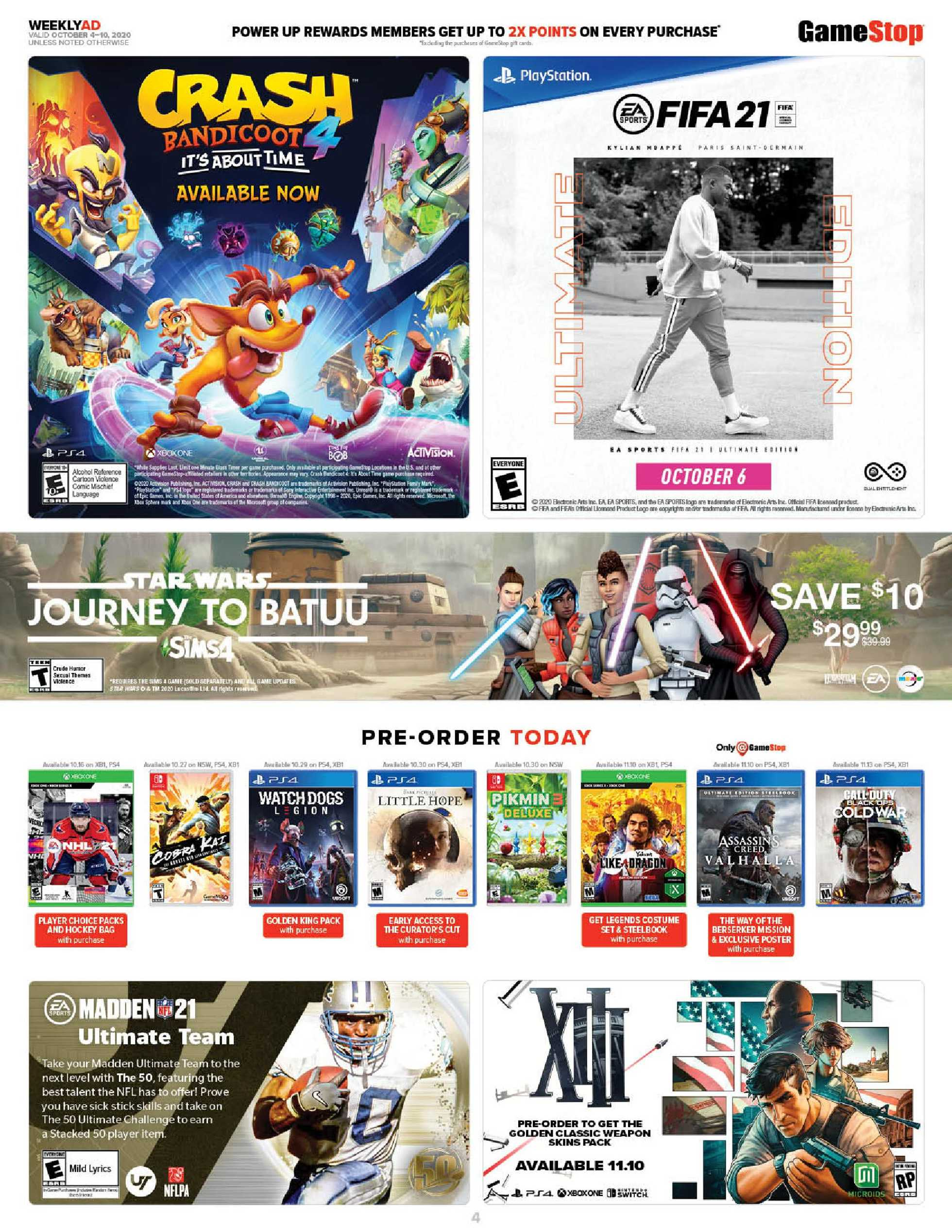 GameStop - deals are valid from 10/04/20 to 10/10/20 - page 4.