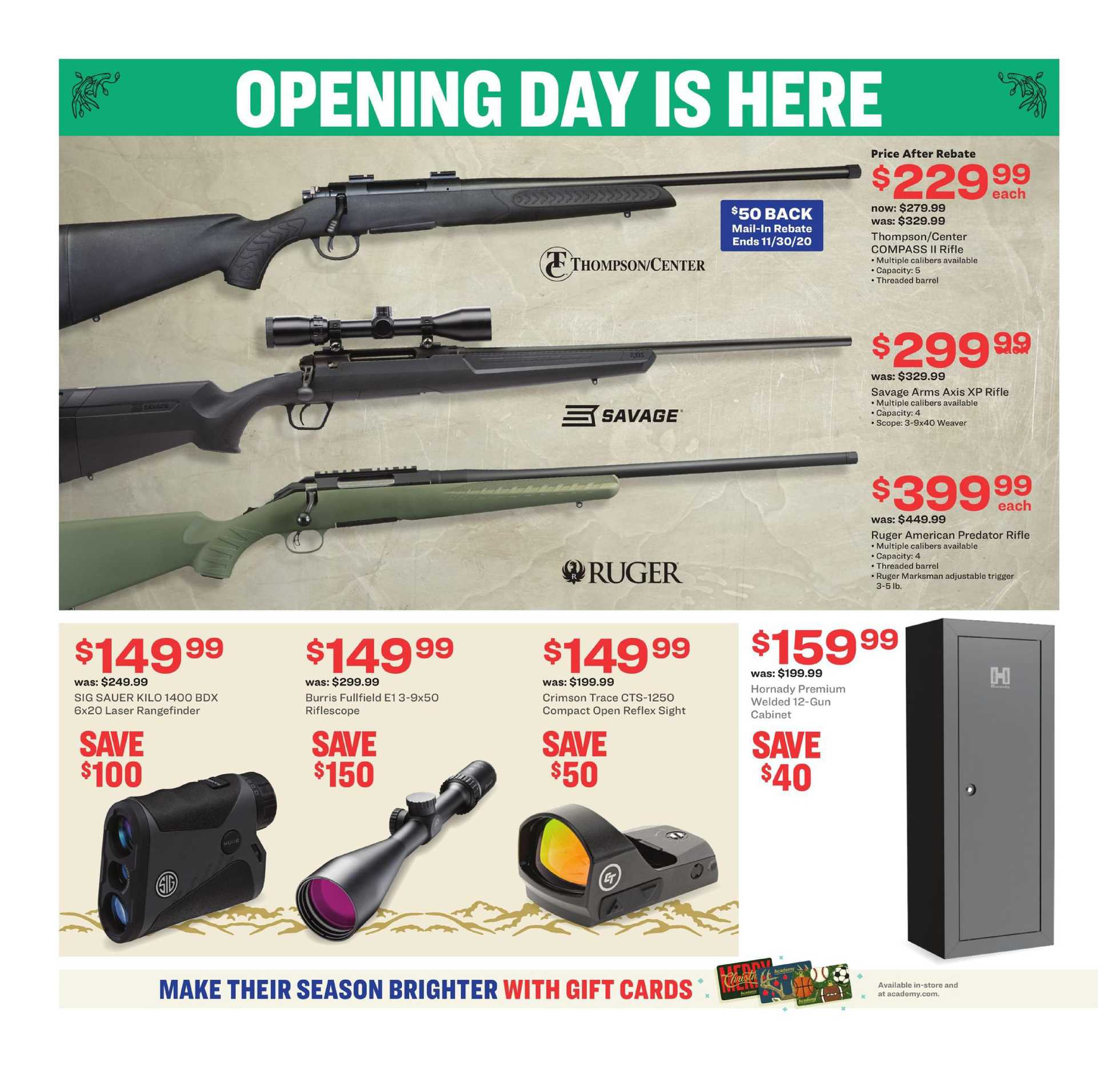 Academy Sports Outdoors Outdoor Ad 11 02 20 Us Promotons Com