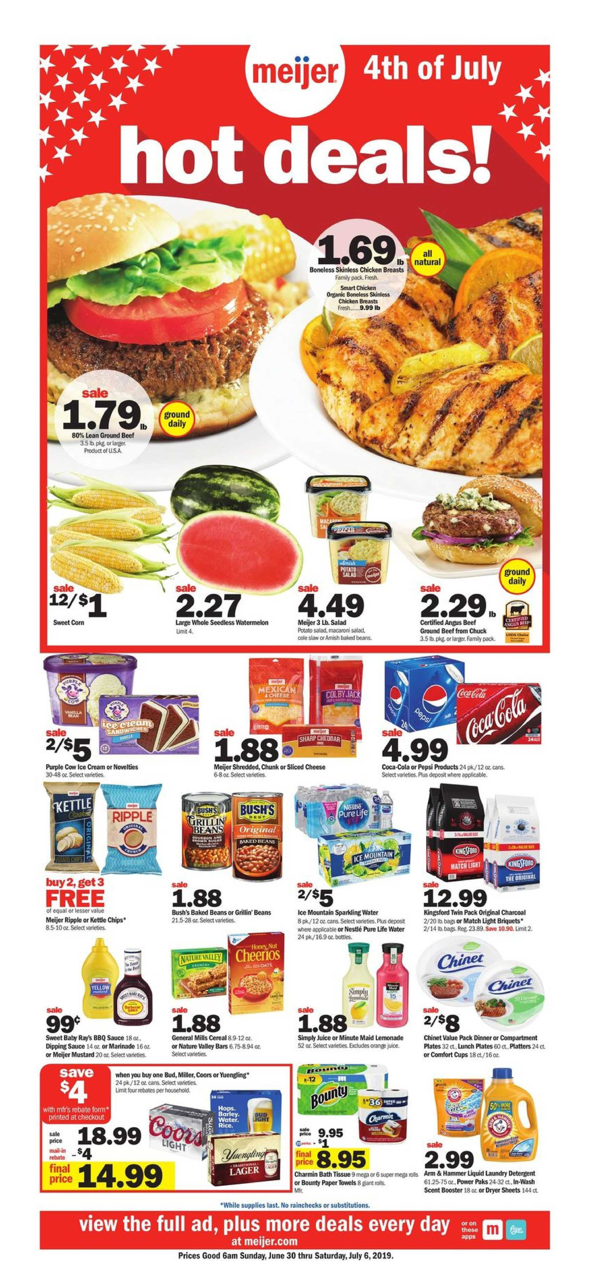 Meijer - deals are valid from 06/30/19 to 07/06/19 - page 1.