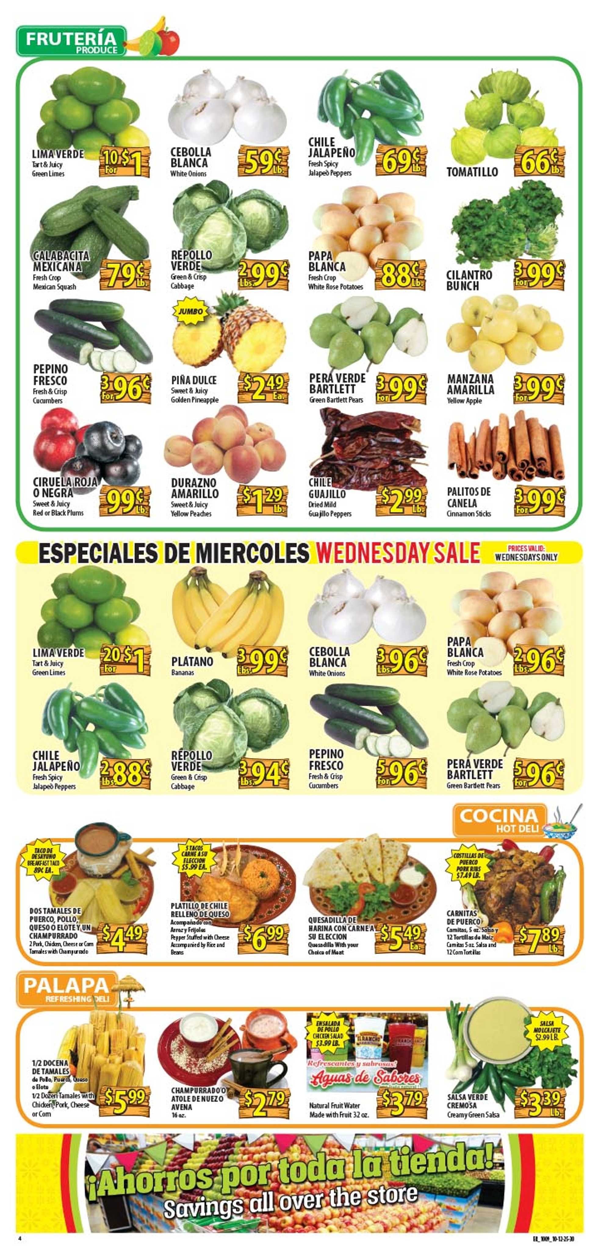 El Rancho Supermarket - deals are valid from 10/09/19 to 10/15/19 - page 4.