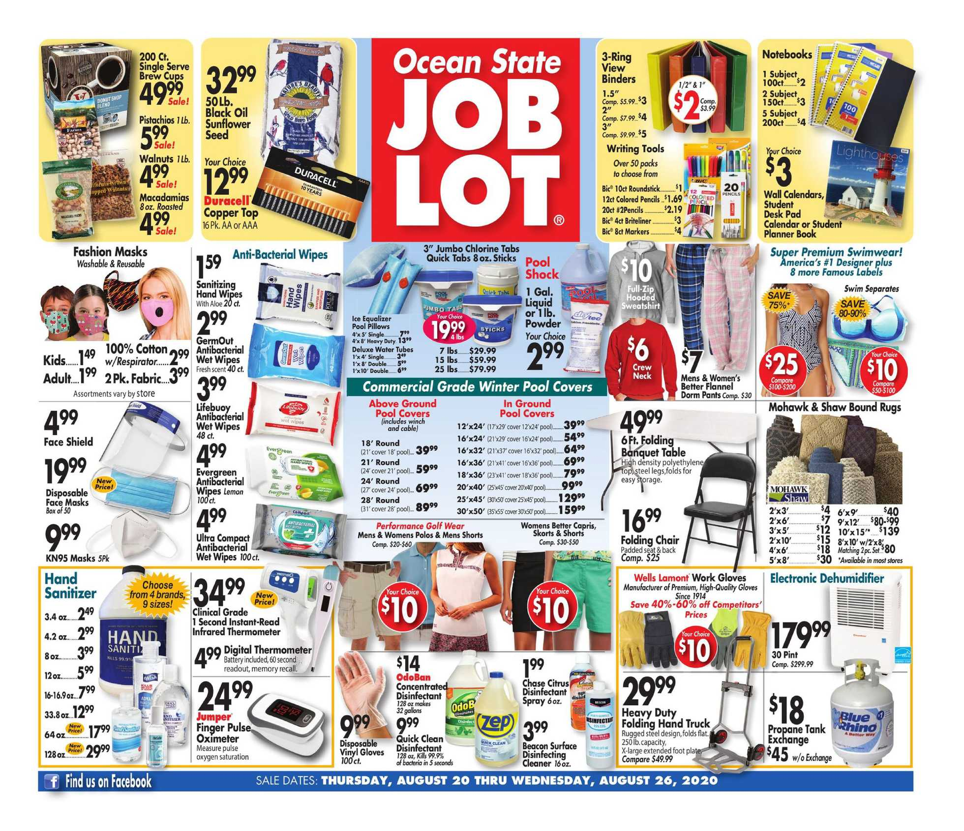 Ocean State Job Lot - deals are valid from 08/20/20 to 08/26/20 - page 1.