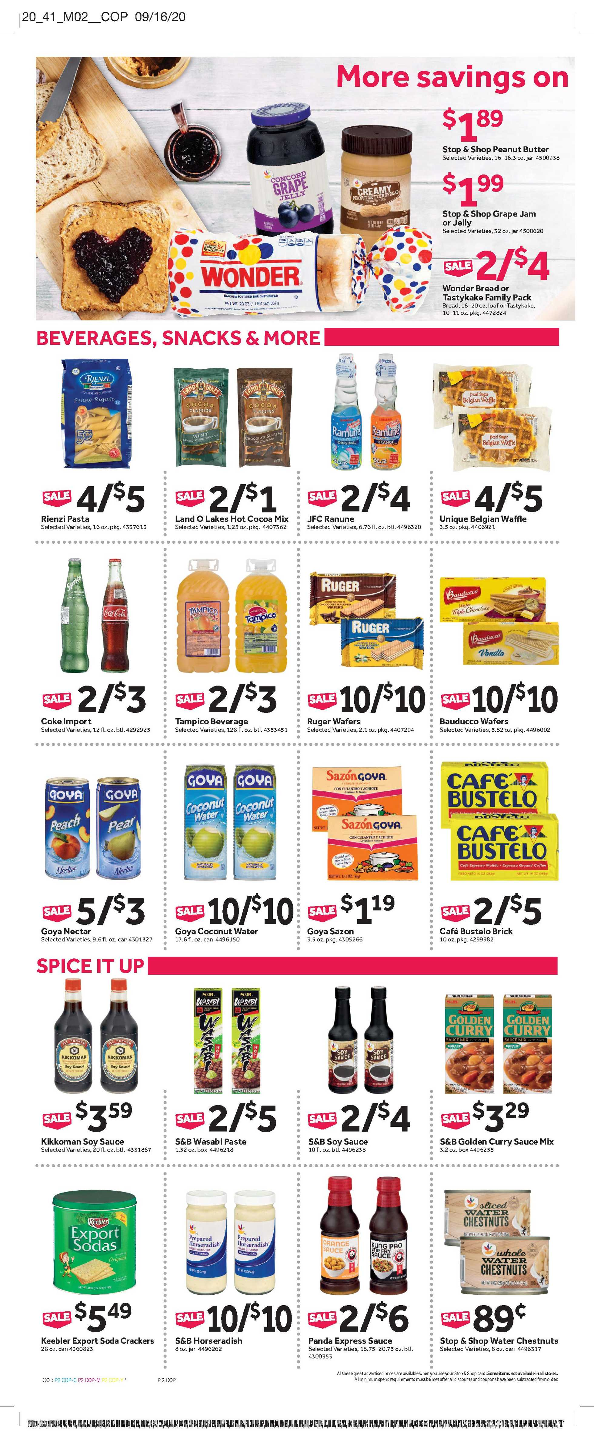 Stop & Shop - deals are valid from 10/02/20 to 10/08/20 - page 4.