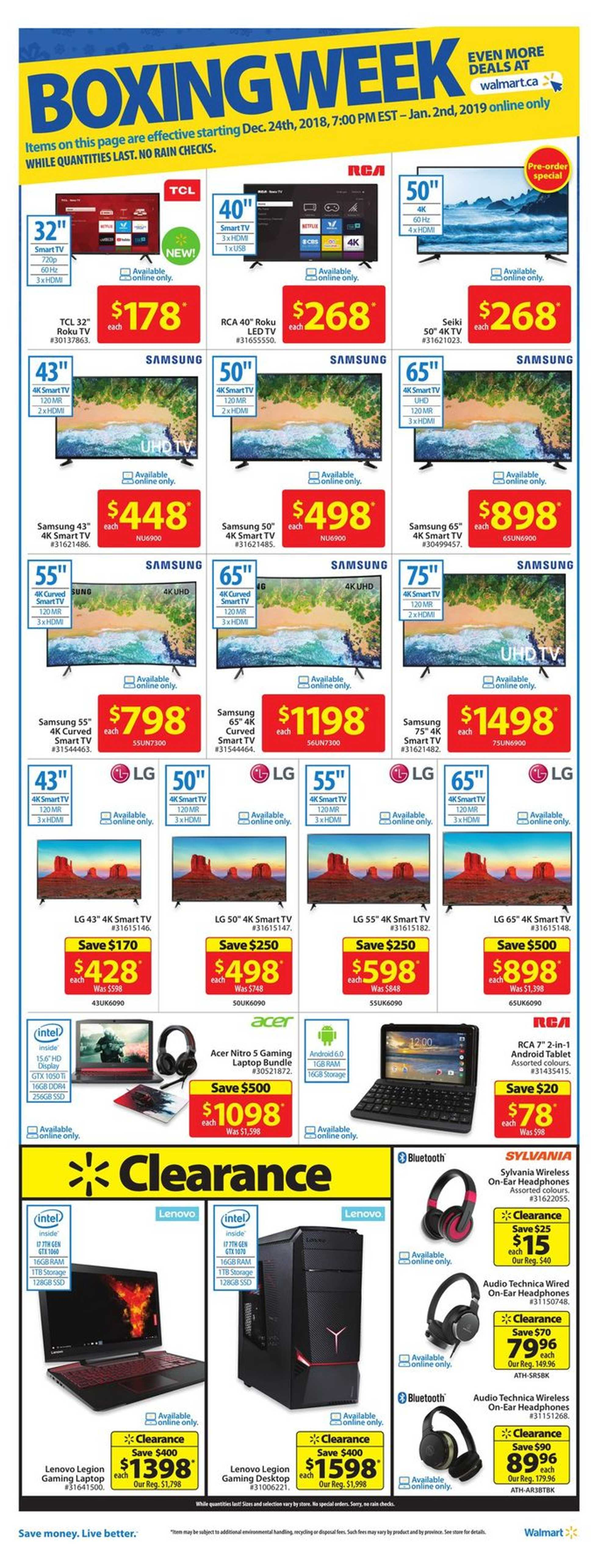 Walmart - deals are valid from 12/26/18 to 01/02/19 - page 4.