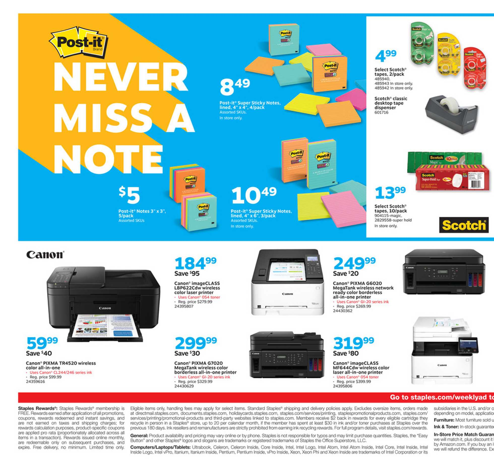 Staples - deals are valid from 07/26/20 to 08/01/20 - page 4.