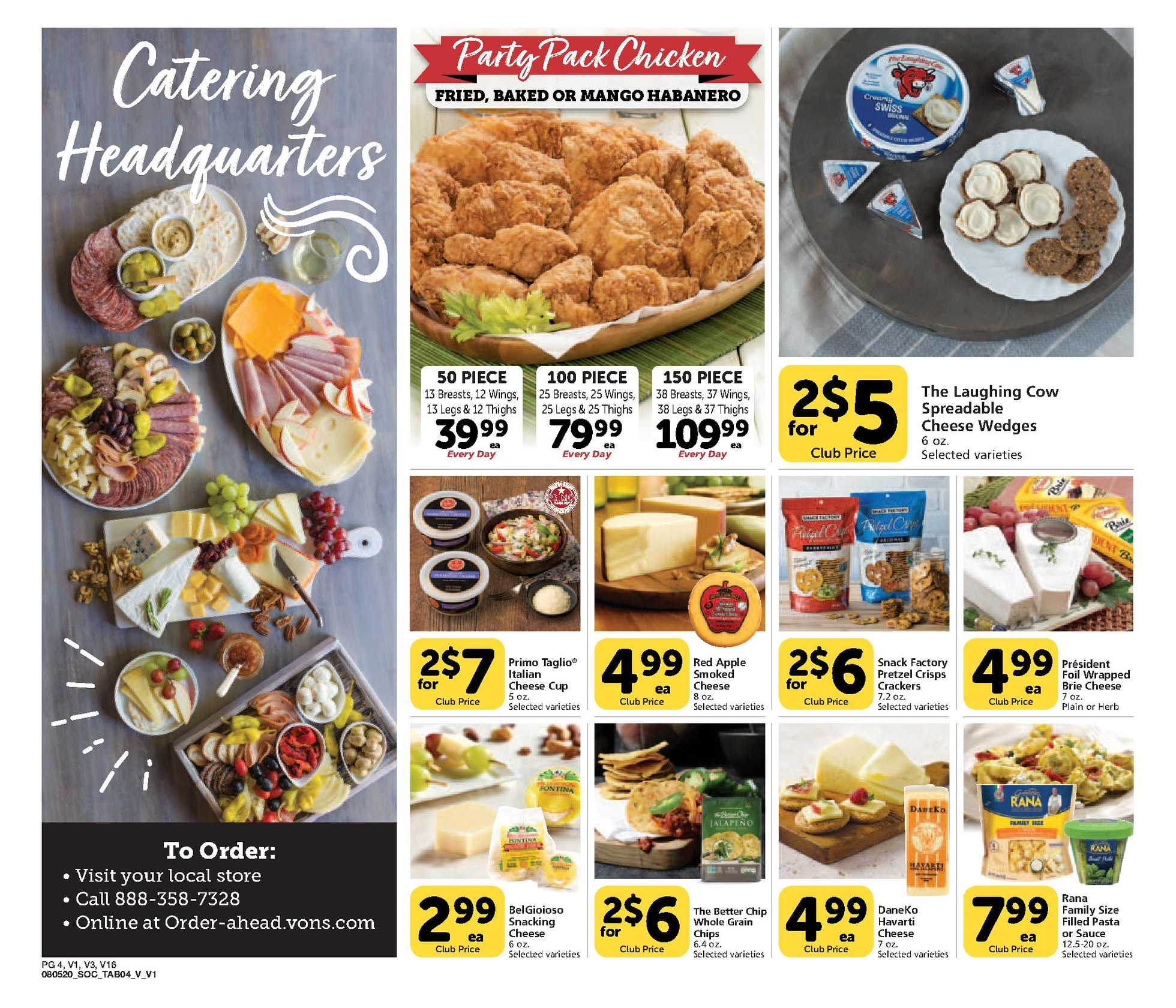 Vons - deals are valid from 08/05/20 to 09/01/20 - page 4.