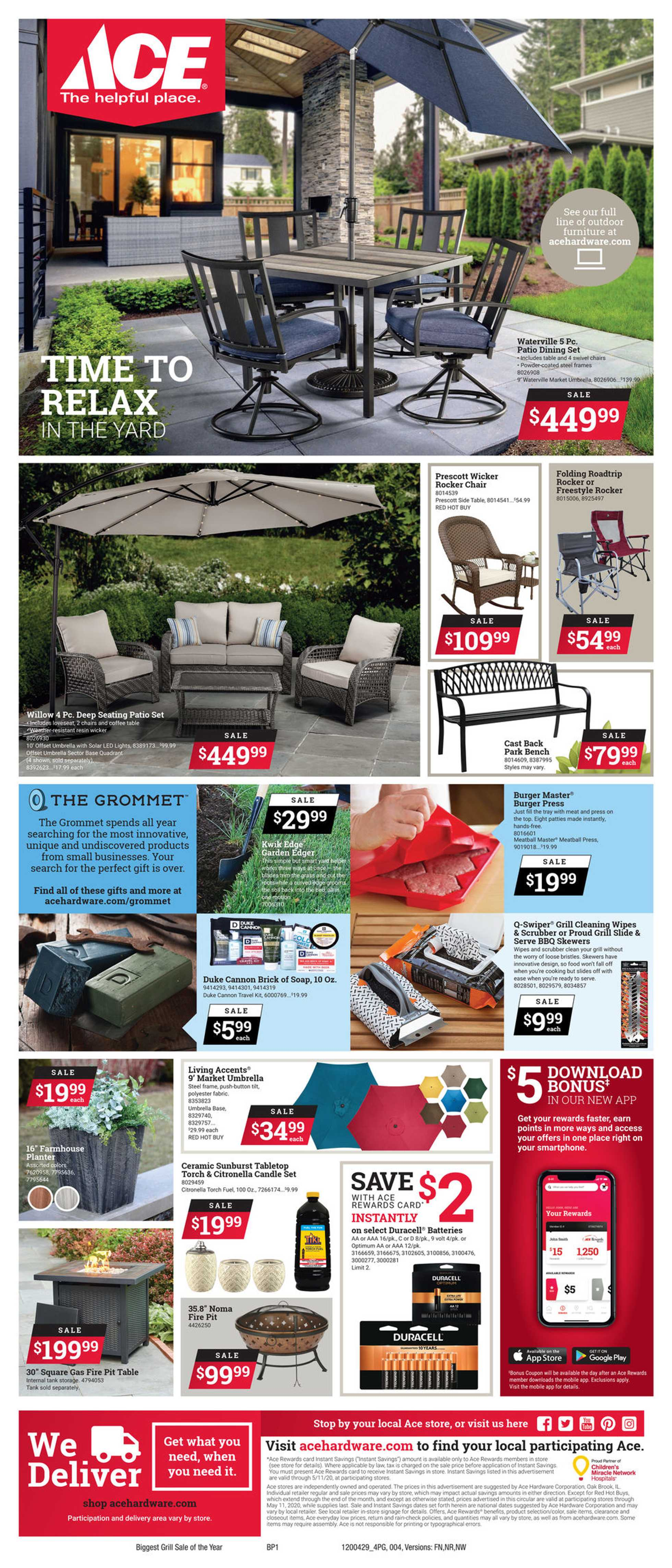 ACE Hardware - deals are valid from 04/29/20 to 04/29/20 - page 4.