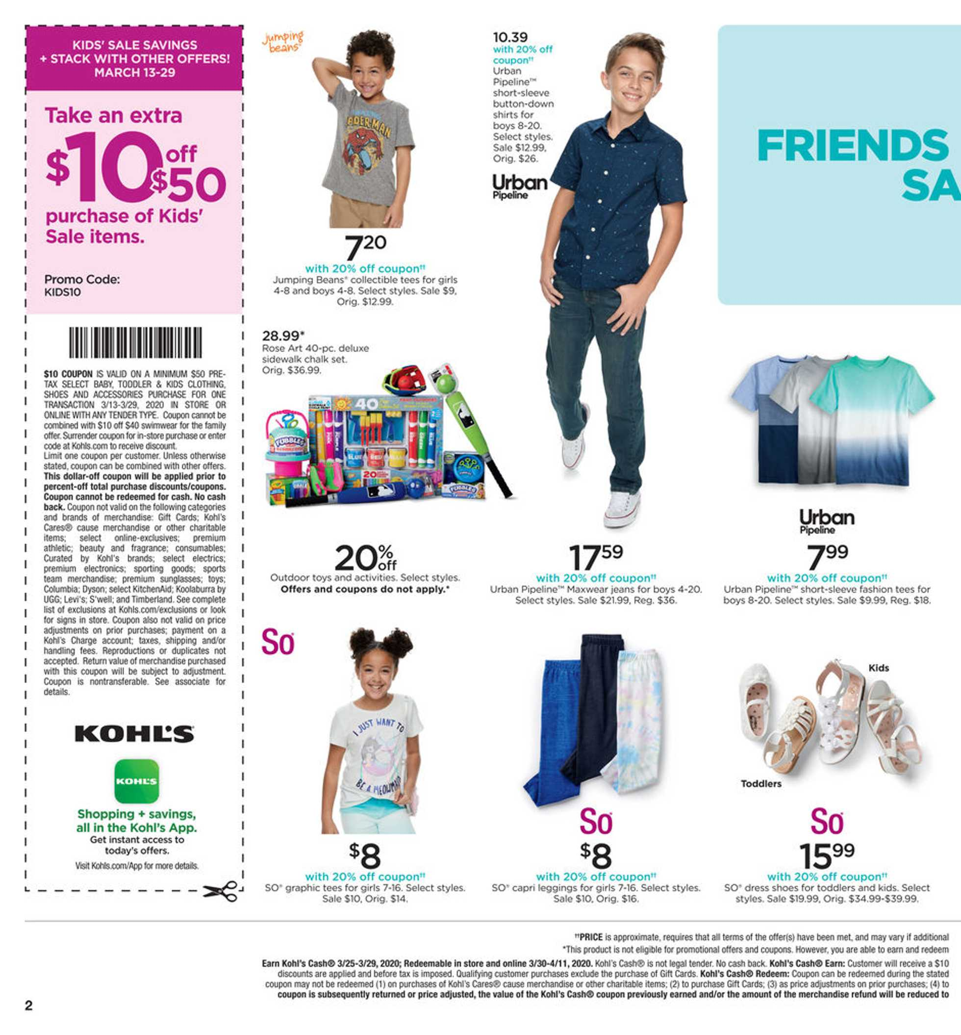 Kohl's - deals are valid from 03/25/20 to 03/29/20 - page 2.