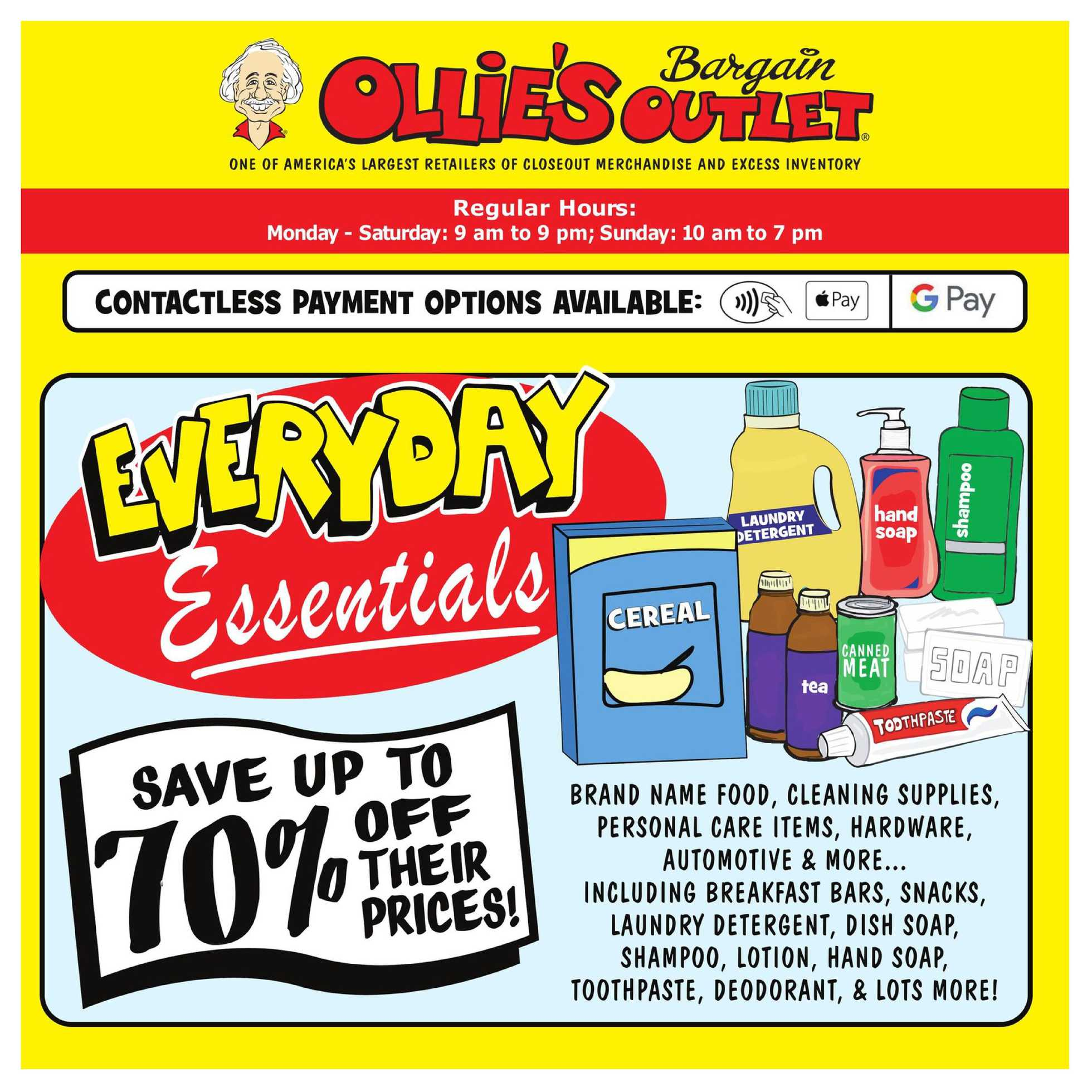Ollie's Bargain Outlet - deals are valid from 07/30/20 to 08/05/20 - page 1.