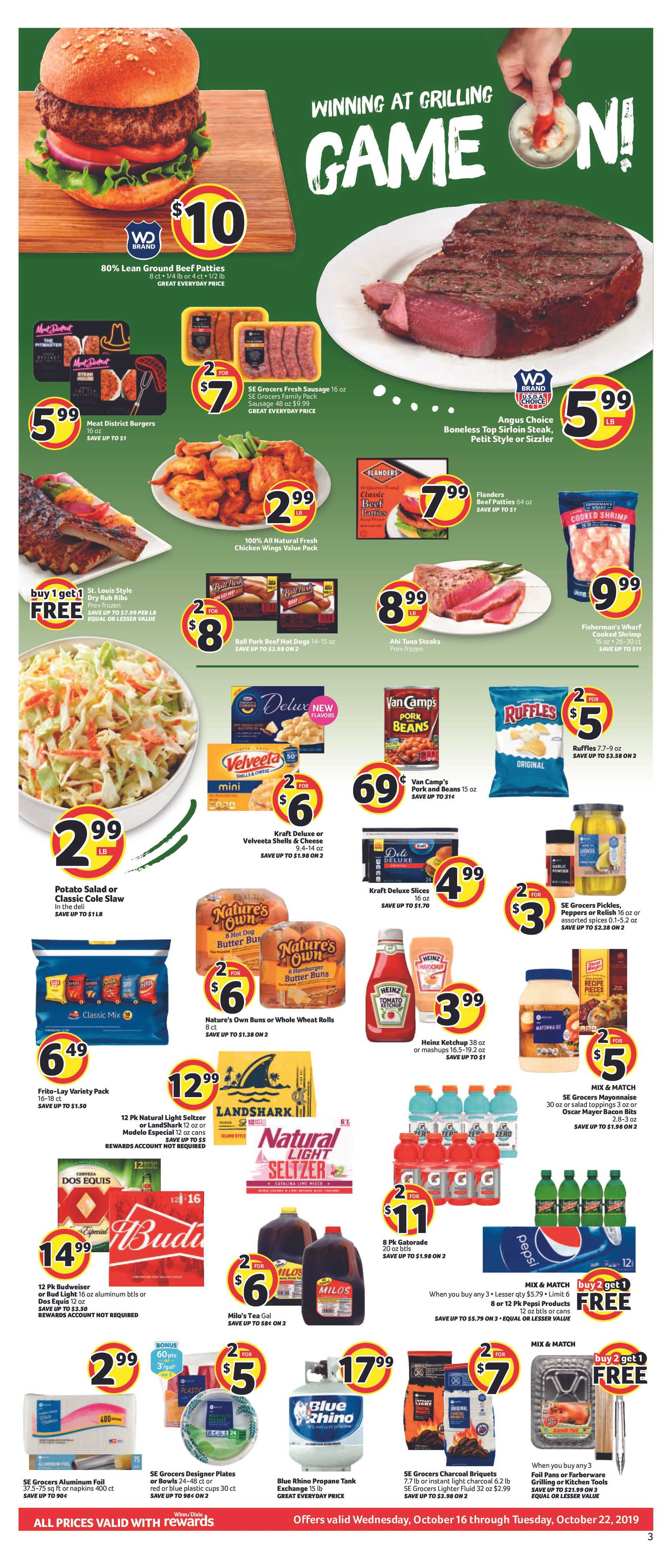 Winn Dixie - deals are valid from 10/16/19 to 10/22/19 - page 3.