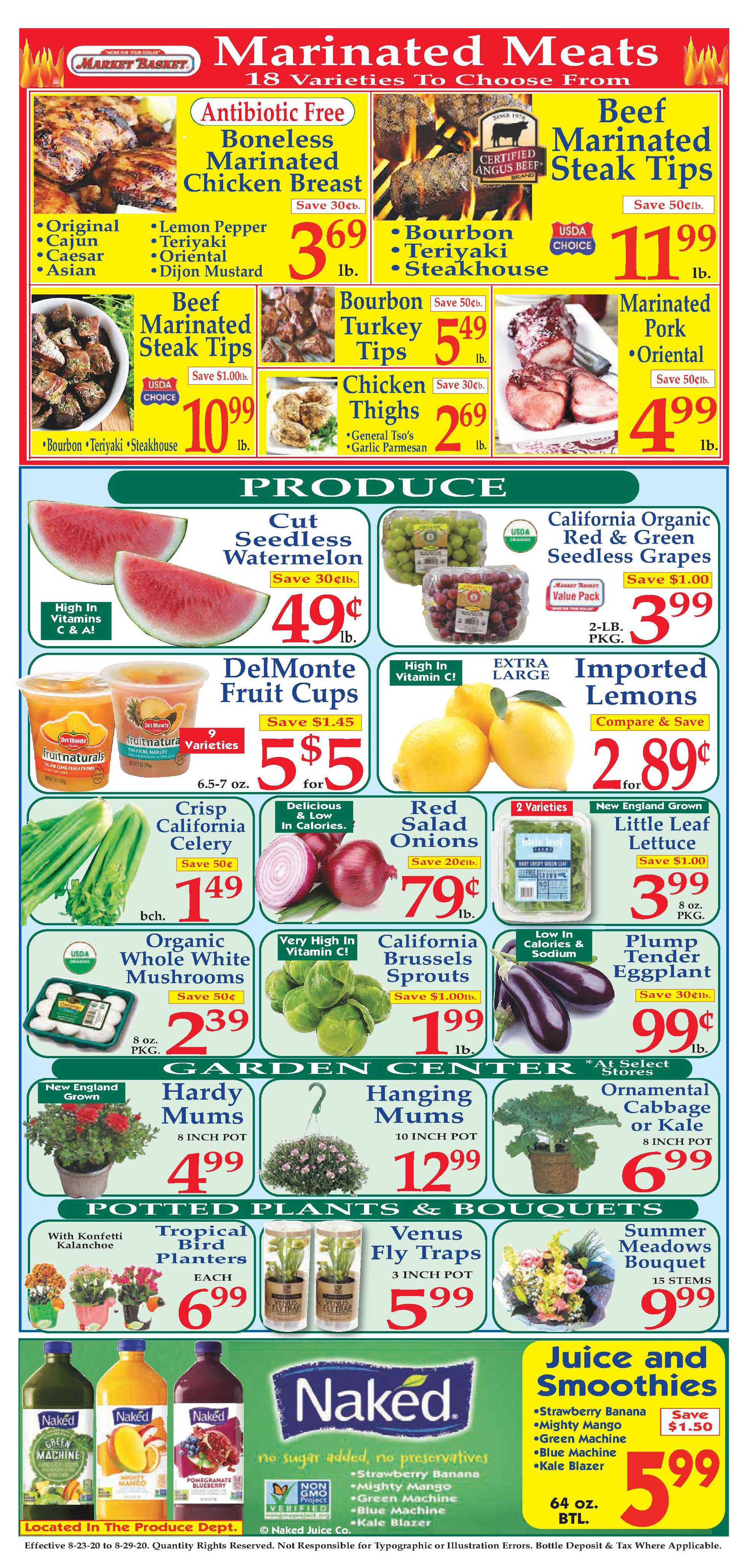 Market Basket - deals are valid from 08/23/20 to 08/29/20 - page 2.