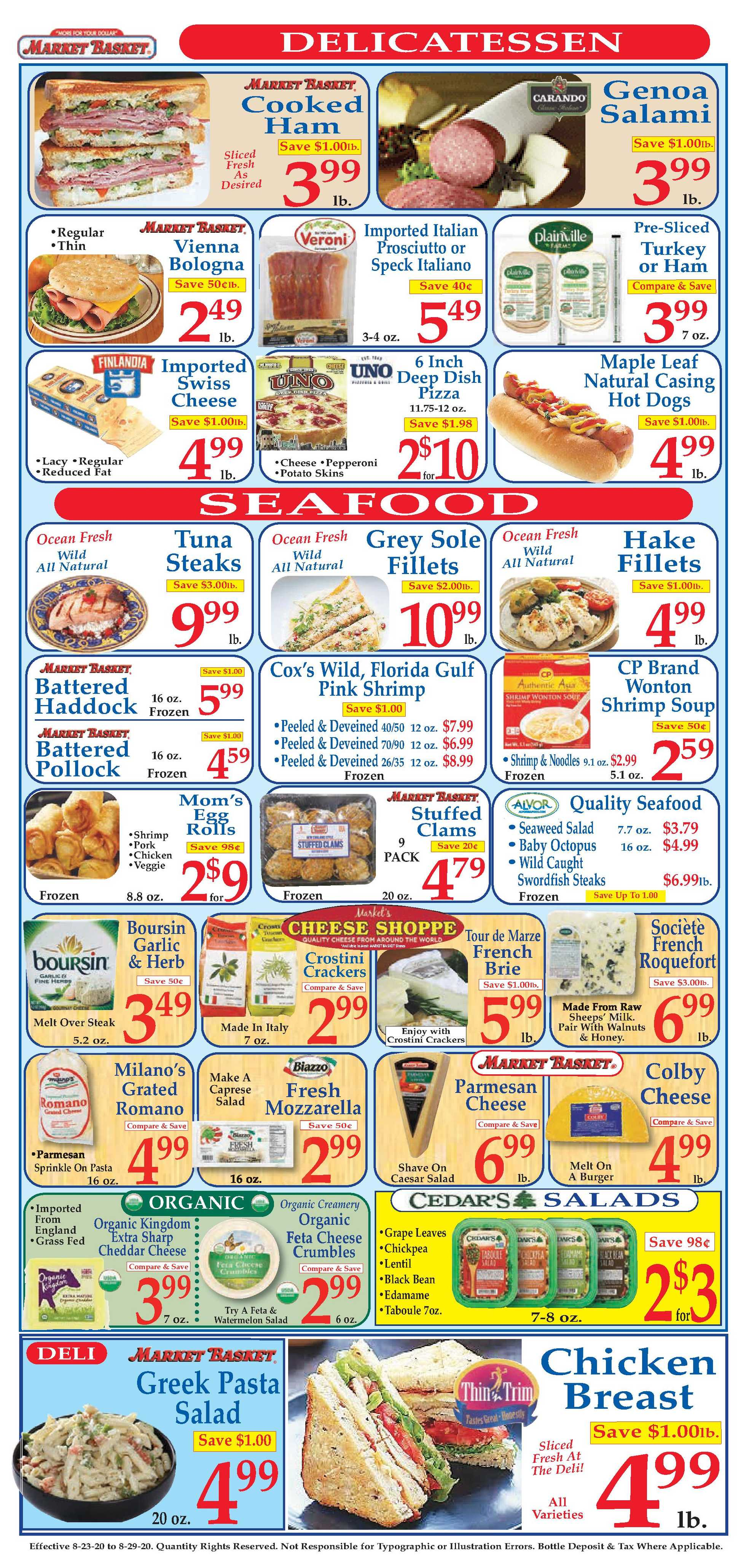 Market Basket - deals are valid from 08/23/20 to 08/29/20 - page 3.
