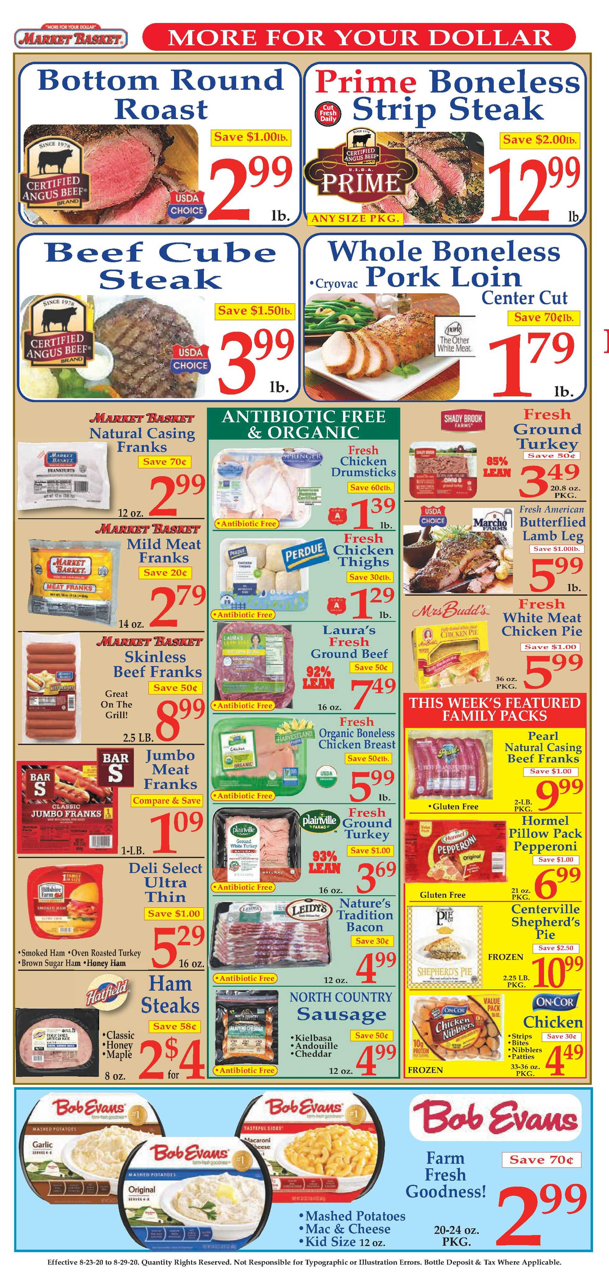 Market Basket - deals are valid from 08/23/20 to 08/29/20 - page 4.