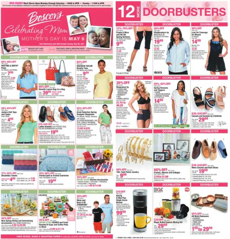 Boscov's - deals are valid from 04/28/21 to 05/04/21 - page 1.